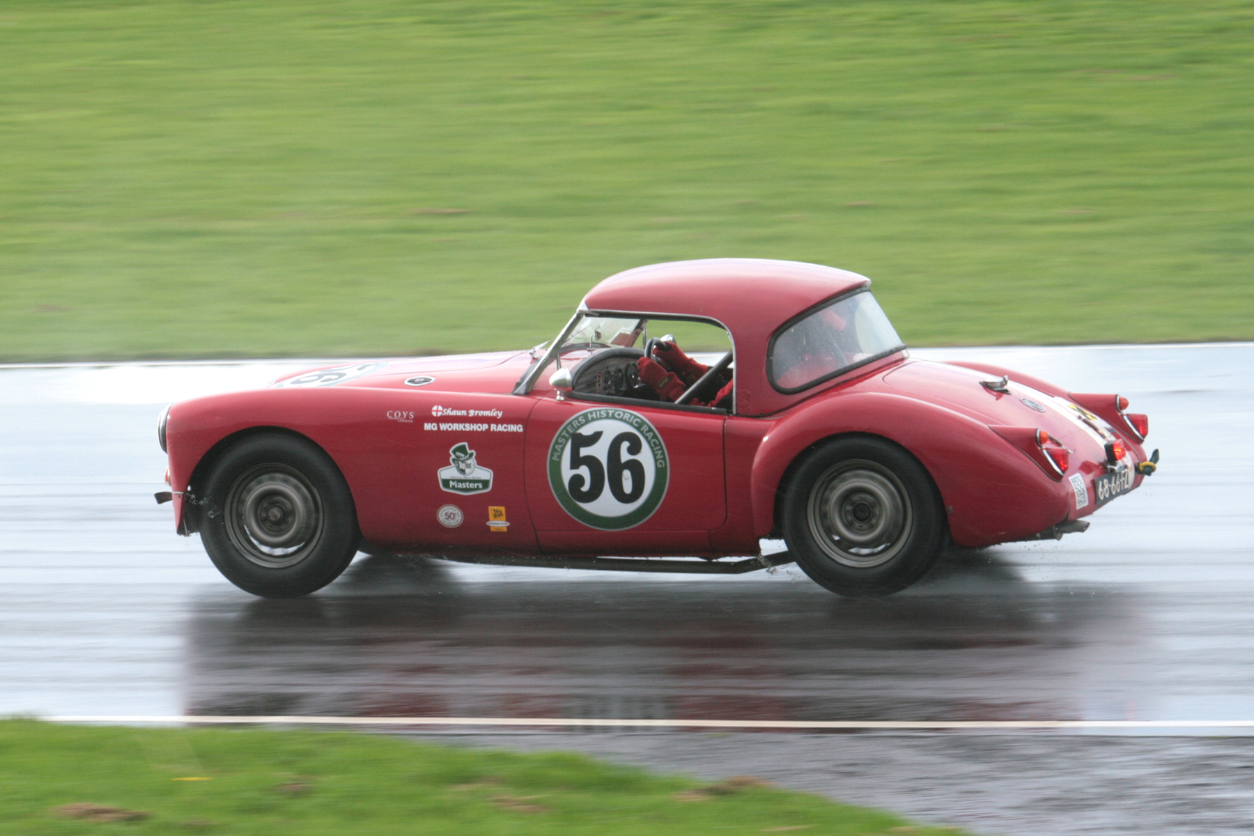Shaun Bromley in his MGA, which he shared with his son, Josh                           Photo - John Turner