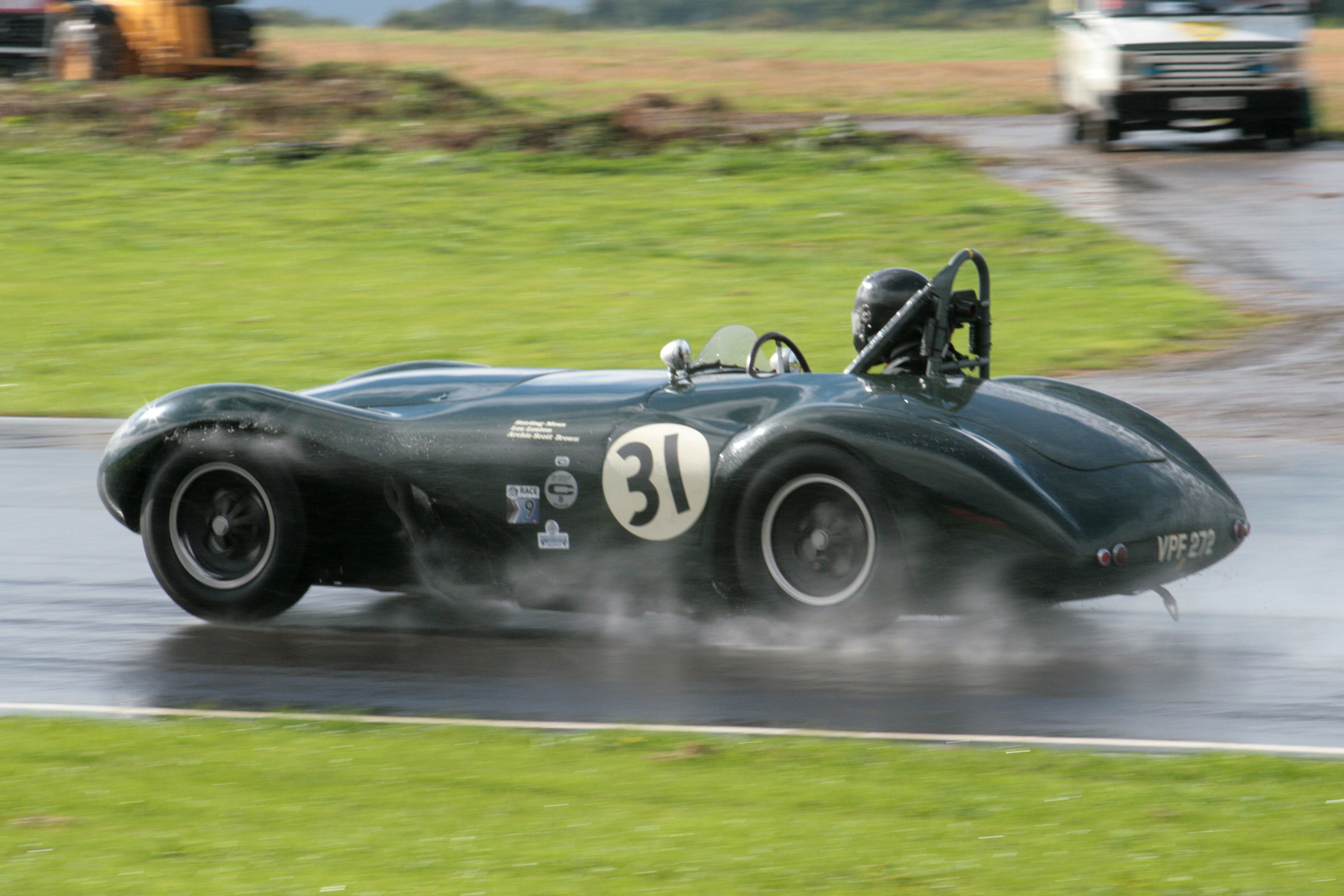 Water, water, everywhere. Paul Griffin took the wonderful Connaught ALSR to 14th overall and won his class.        Photo - John Turner