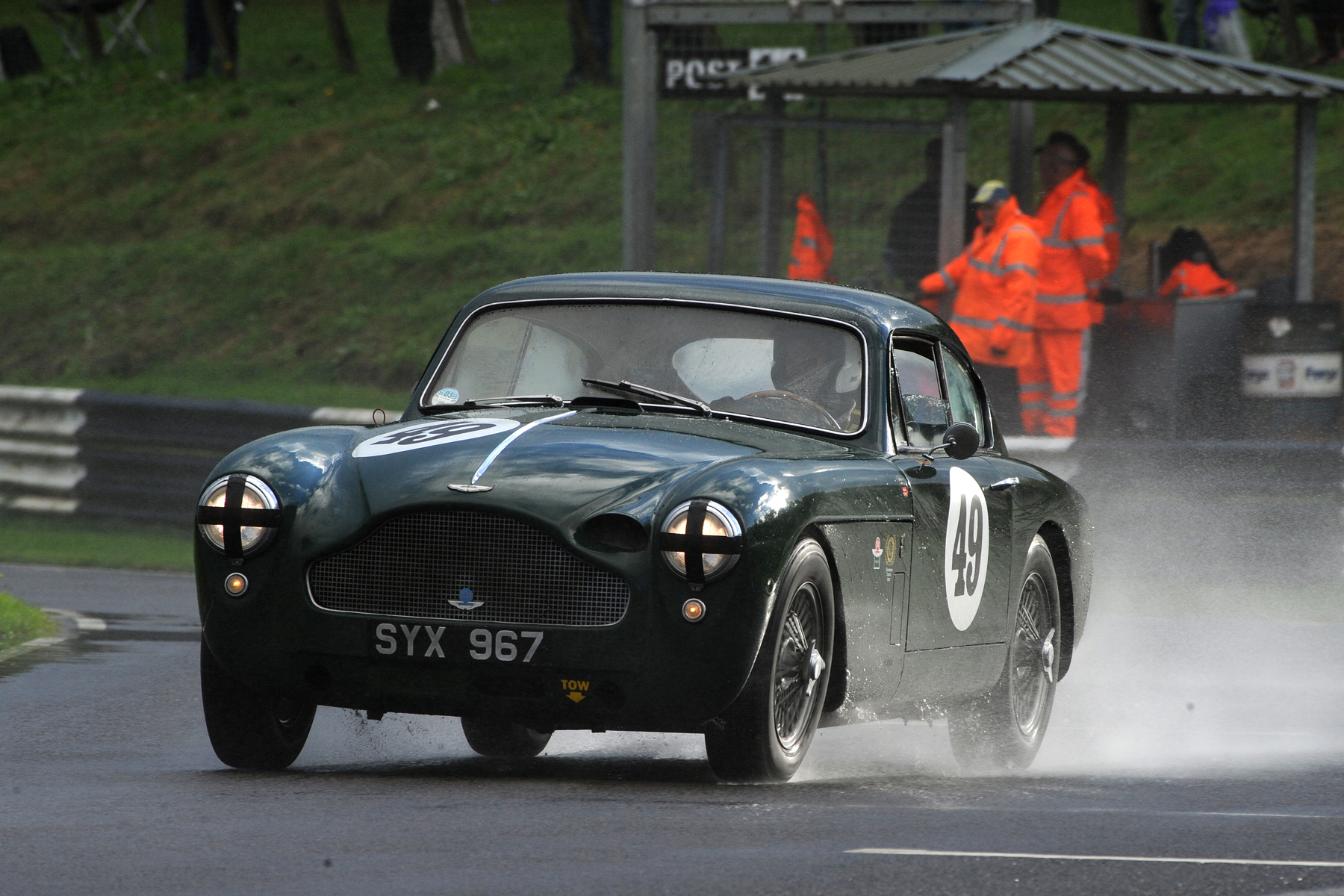 Remembering Jon. Chris Woodgate pilots Jon's old car to 4th overall. Photo - Jeff Bloxham