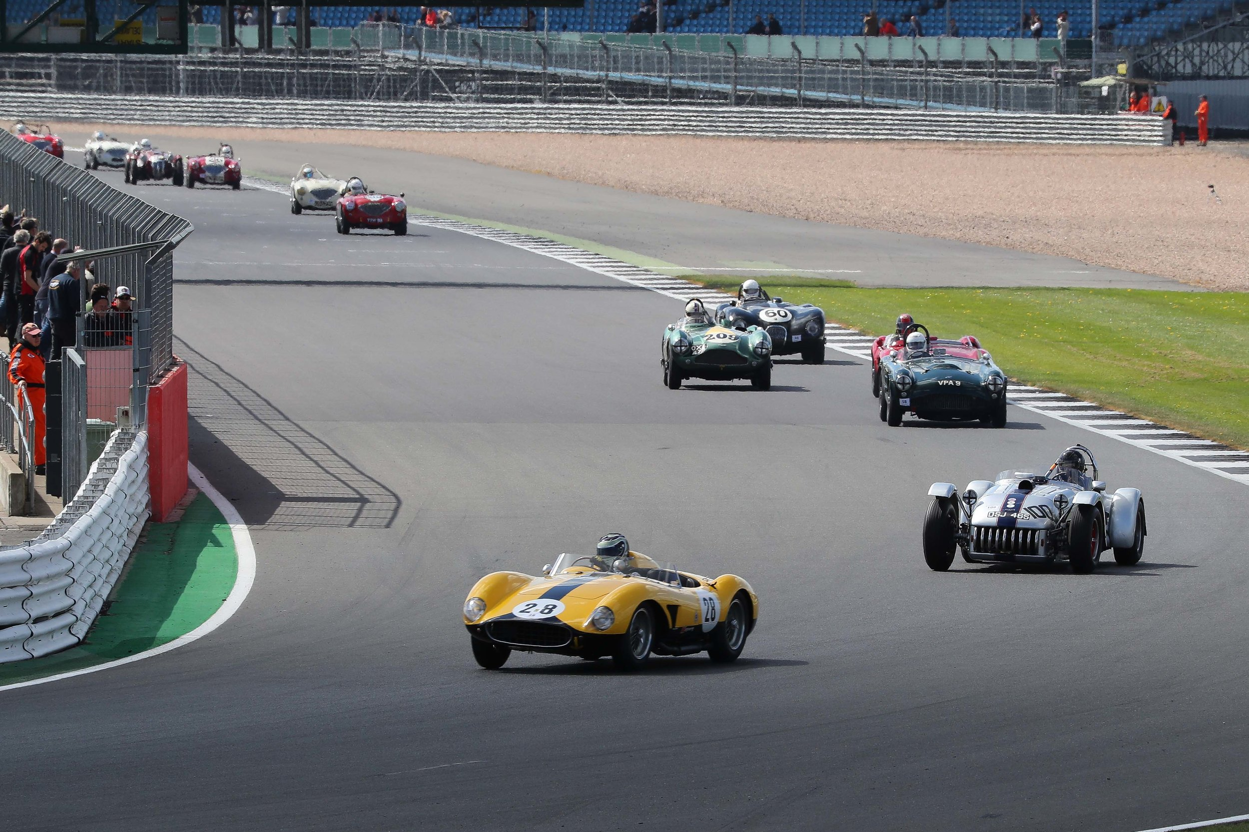 Starting lap 2, and the front six had begun to pull clear.                                                                        Photo - Richard Styles
