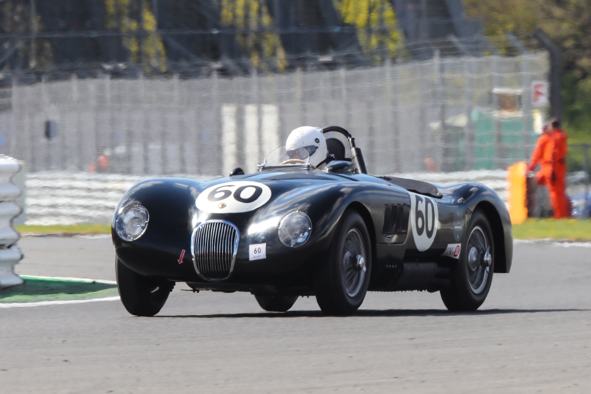 Lovely original Jaguar C type of Rüediger Friedrichs which sadly retired on lap 16 whilst running near the front               Photo - Richard Styles