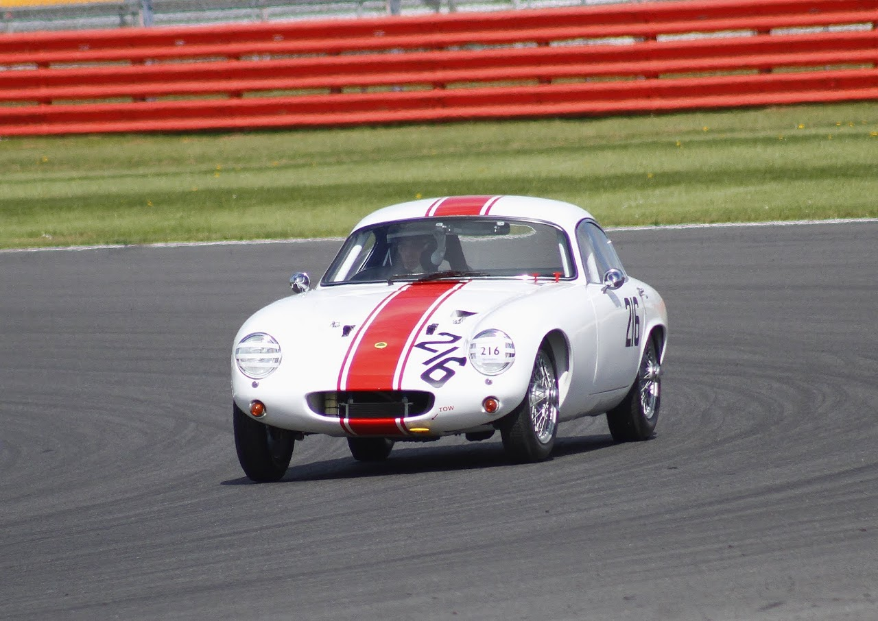 John Waterson had a good run and was disappointed to have to retire his Lotus Elite after 17 laps with suspected dif problems                Photo - Bob Bull, Tripos Media