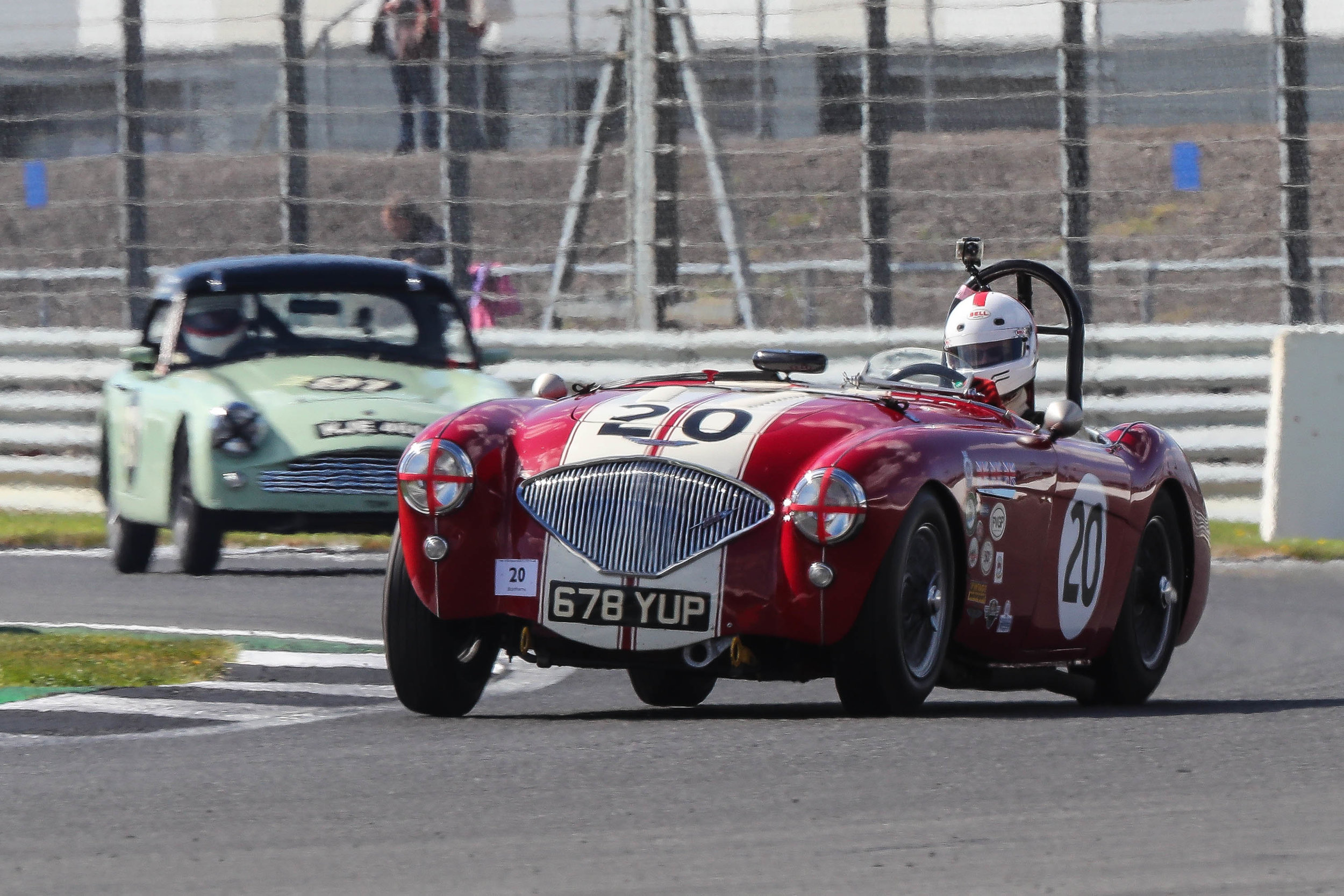 Jonathan Abecassis presses on ultimately to good effect in his Austin Healey 100/4                           Photo - Richard Styles