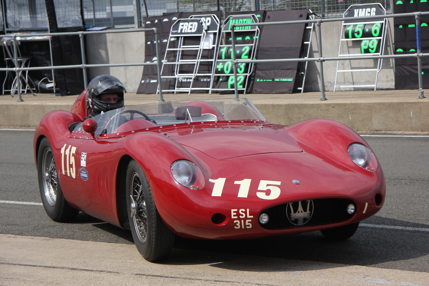 Gorgeous Maserati 250S of Richard Wilson which he put on pole                                                              Photo - Pat Arculus, Tripos Media