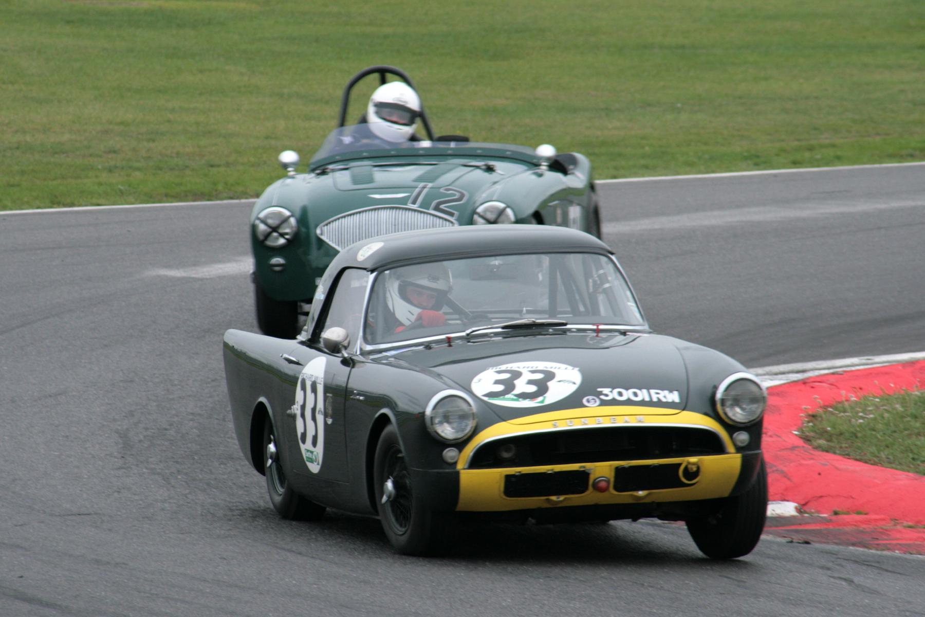 Jim Campbell briefly found himself behind the Sunbeam Alpine Le Mans  Photo - John Turner