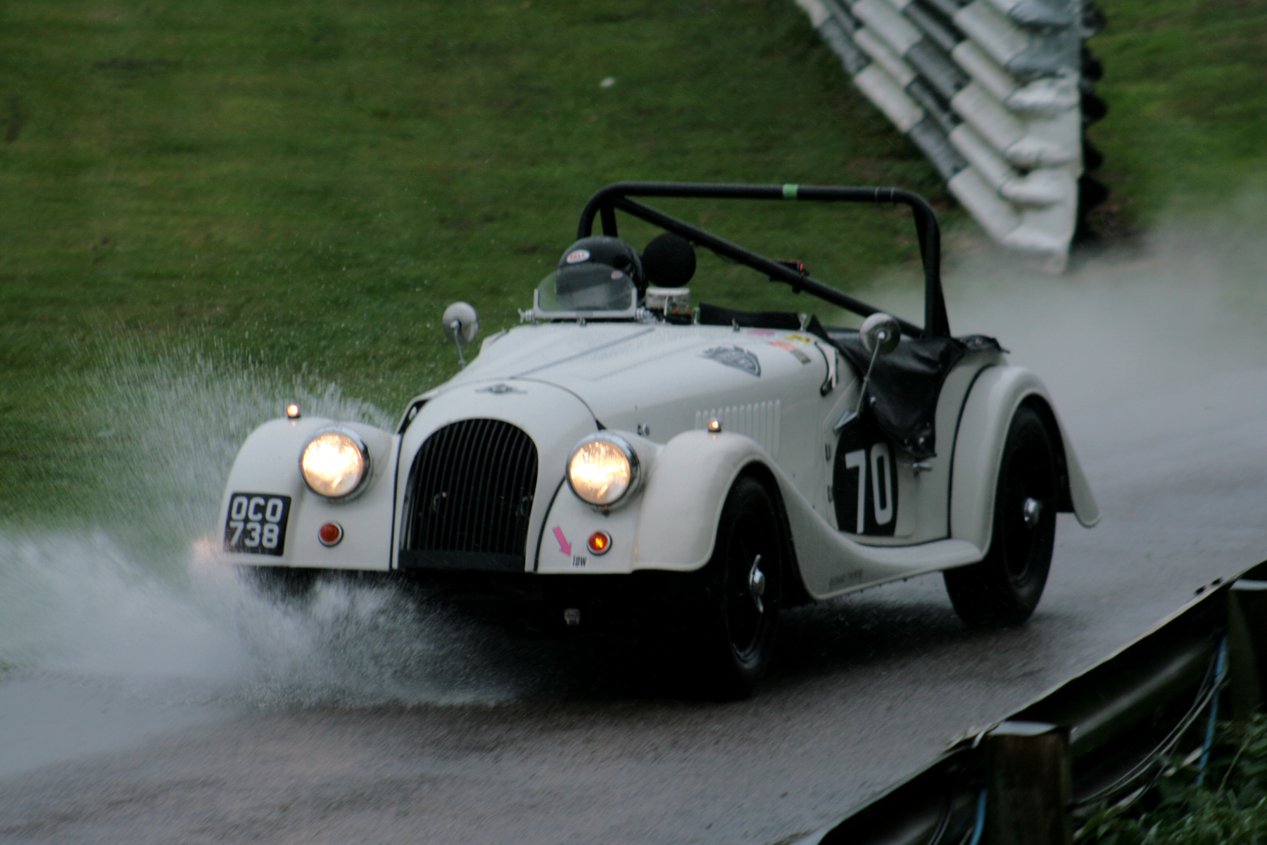 Alan House takes his Morgan Plus 4 out onto the track for qualifying  Photo - John Turner