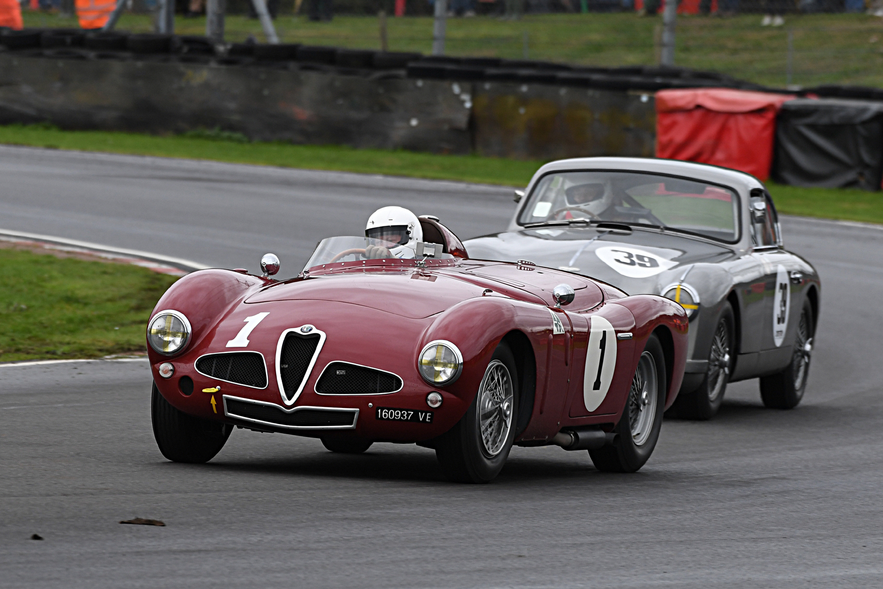 Alfa leads Aston. Chris Mann in the Disco Volante chased hard by Tim Stamper in the DB2/4. They had a great battle throughout the race, not even the pitstops breaking it up. It only ended when Chris pranged the Alfa and failed to finish (although I'm not yet in full possession of the circumstances)  Photo - Jeff Bloxham
