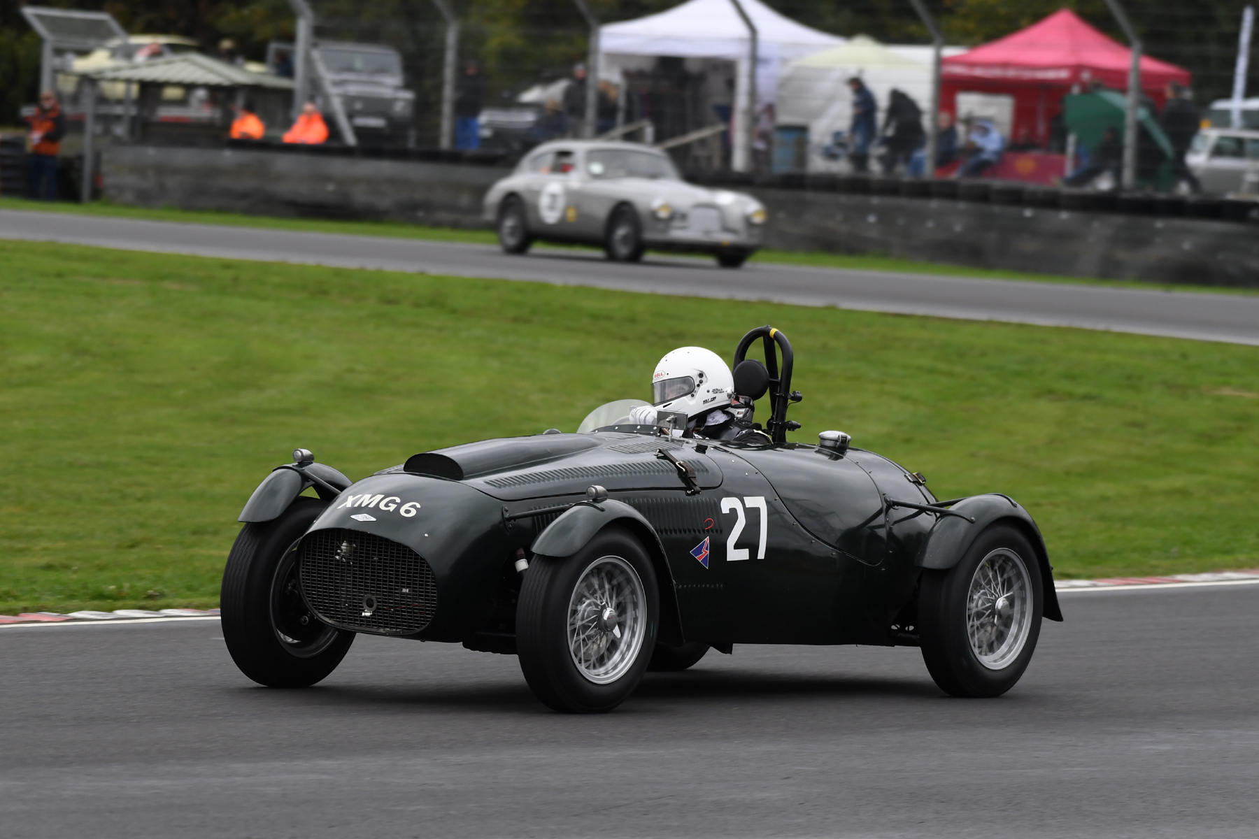 A splendid drive by Martyn Corfield in his Frazer Nash Le Mans Replica took him to victory  Photo - Jeff Bloxham