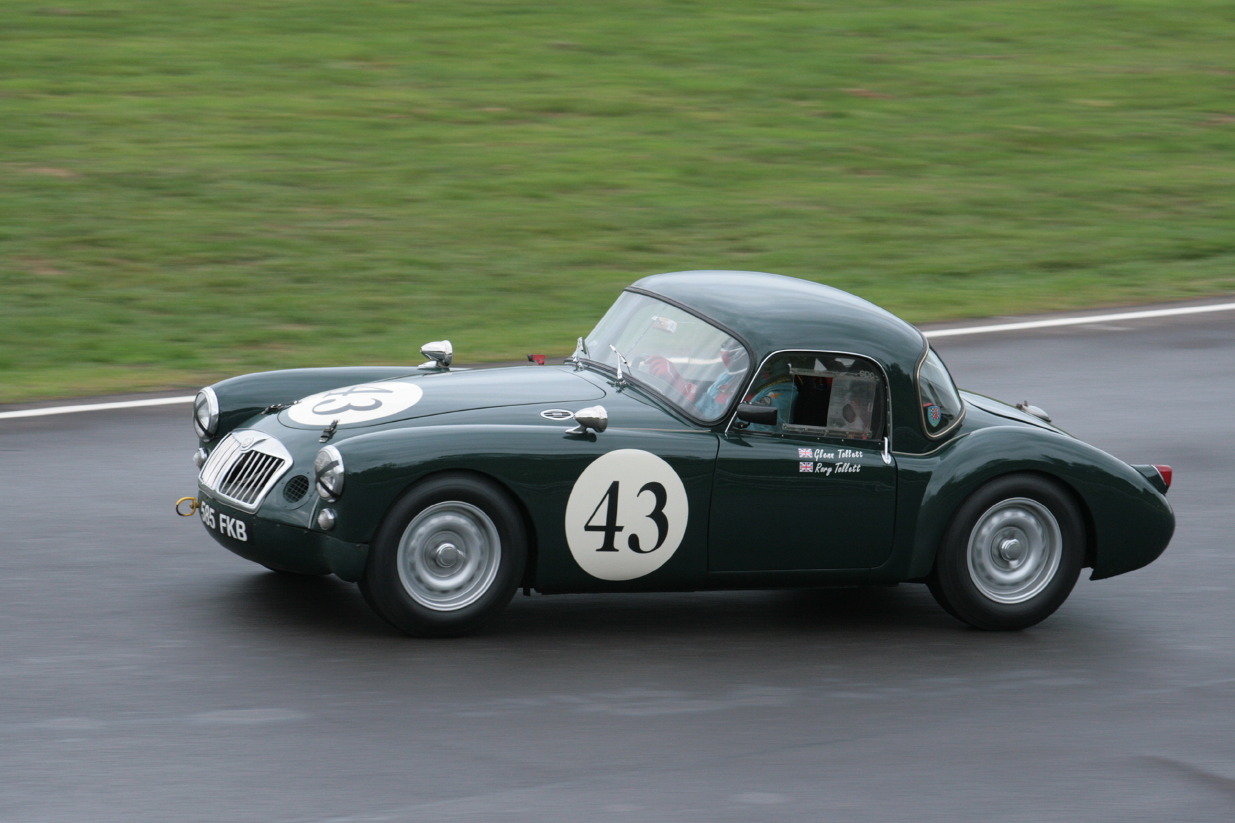 The Tollett MGA Coupe in fine form to finish 9th  Photo - John Turner