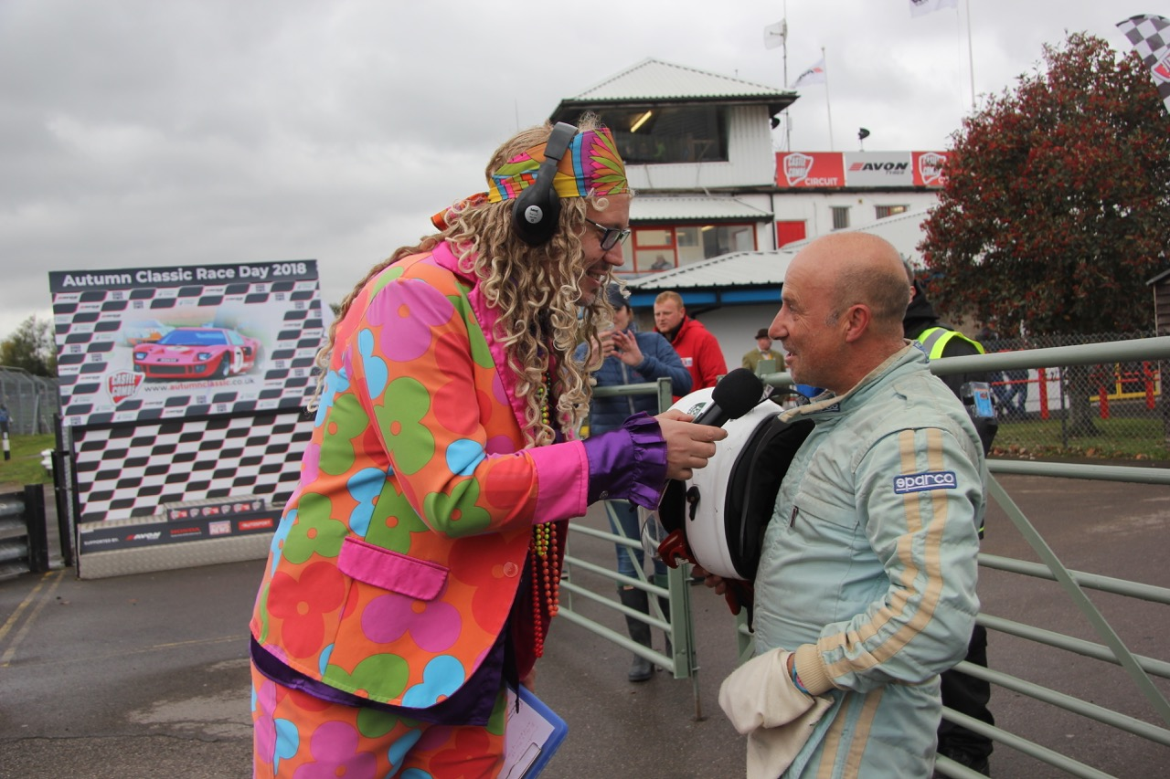 Marc Gordon gets interviewed  Photo - Pat Arculus, Tripos Media
