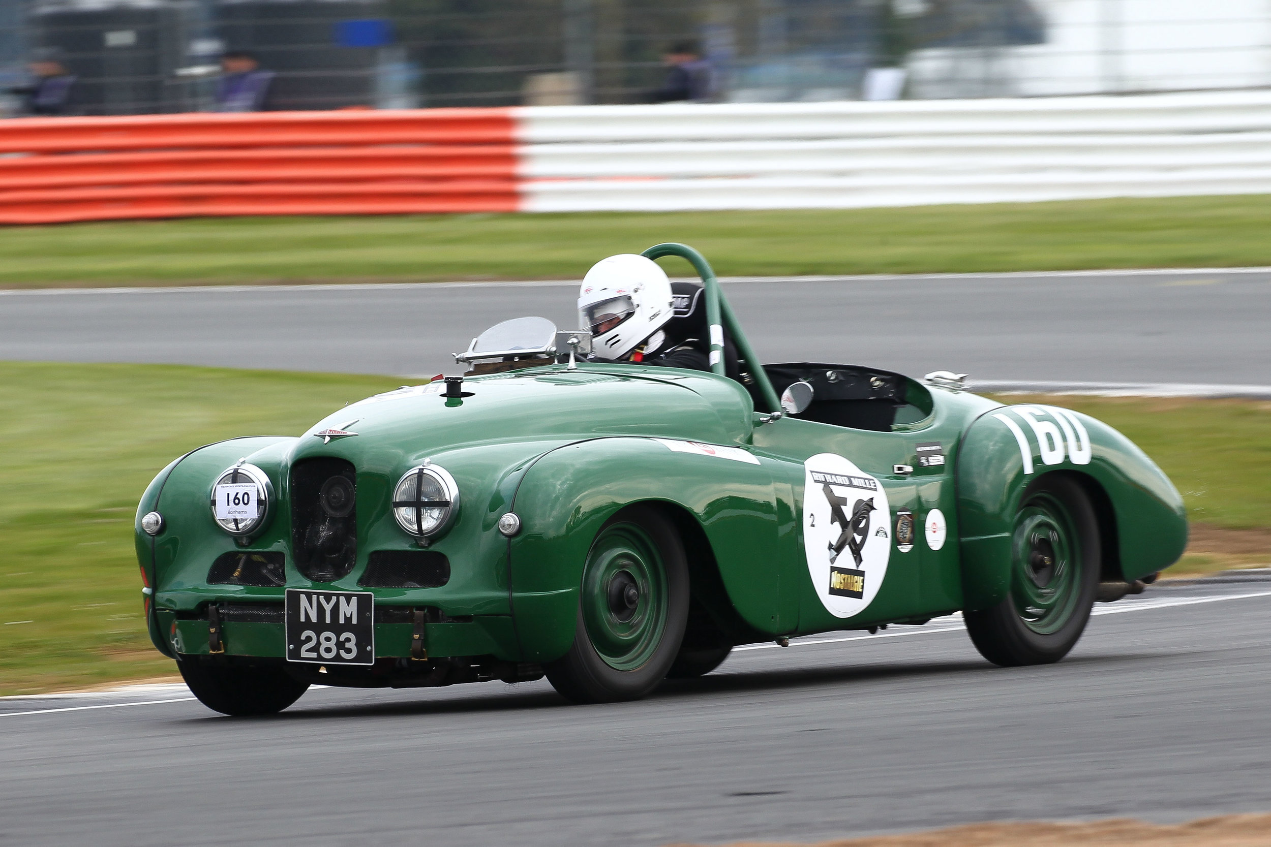 Against expectation, and delightfully, the Jowett Jupiter of Harry Naerger made it to the startline and in the race, improved on his qualifying time by 10 seconds  Photo - Richard Styles