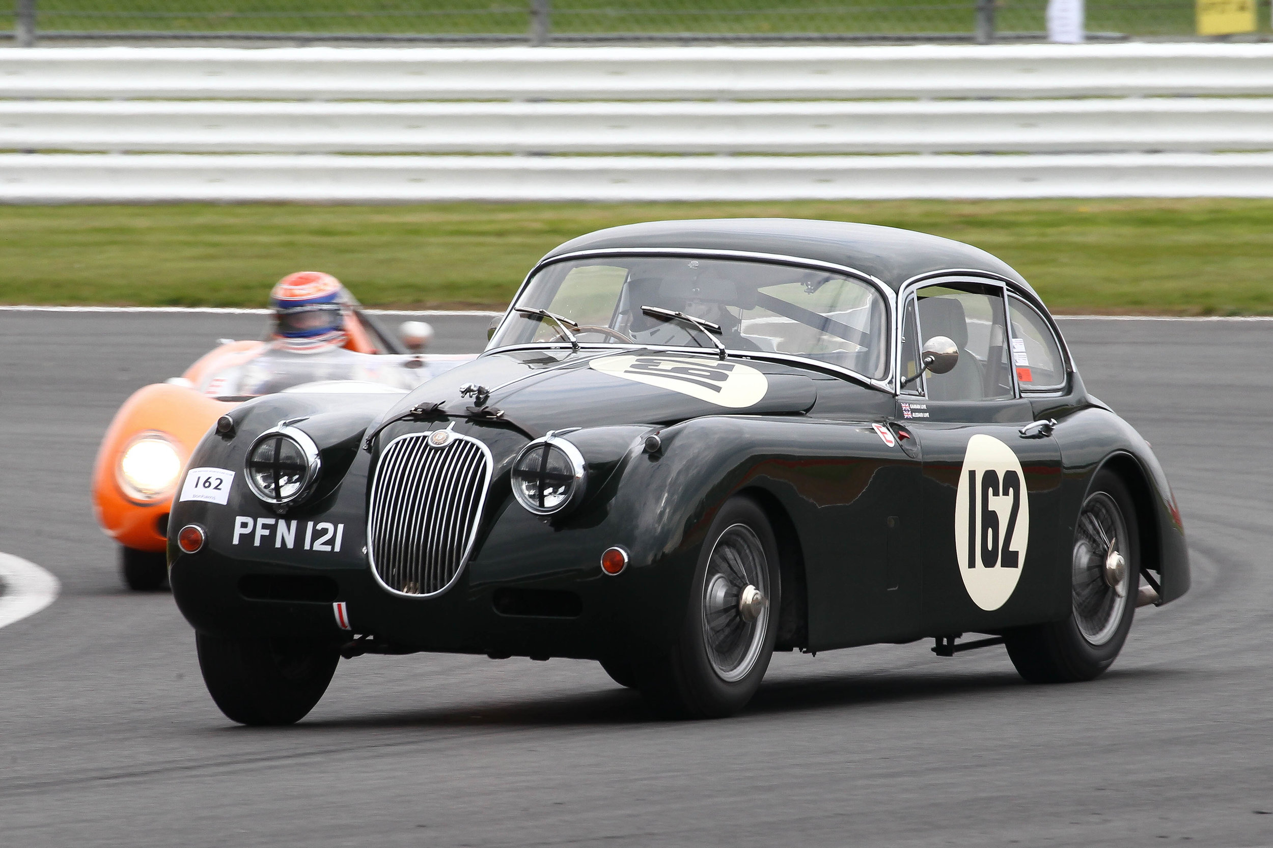 Graham Love in the Jaguar XK150. Photo - Richard Styles