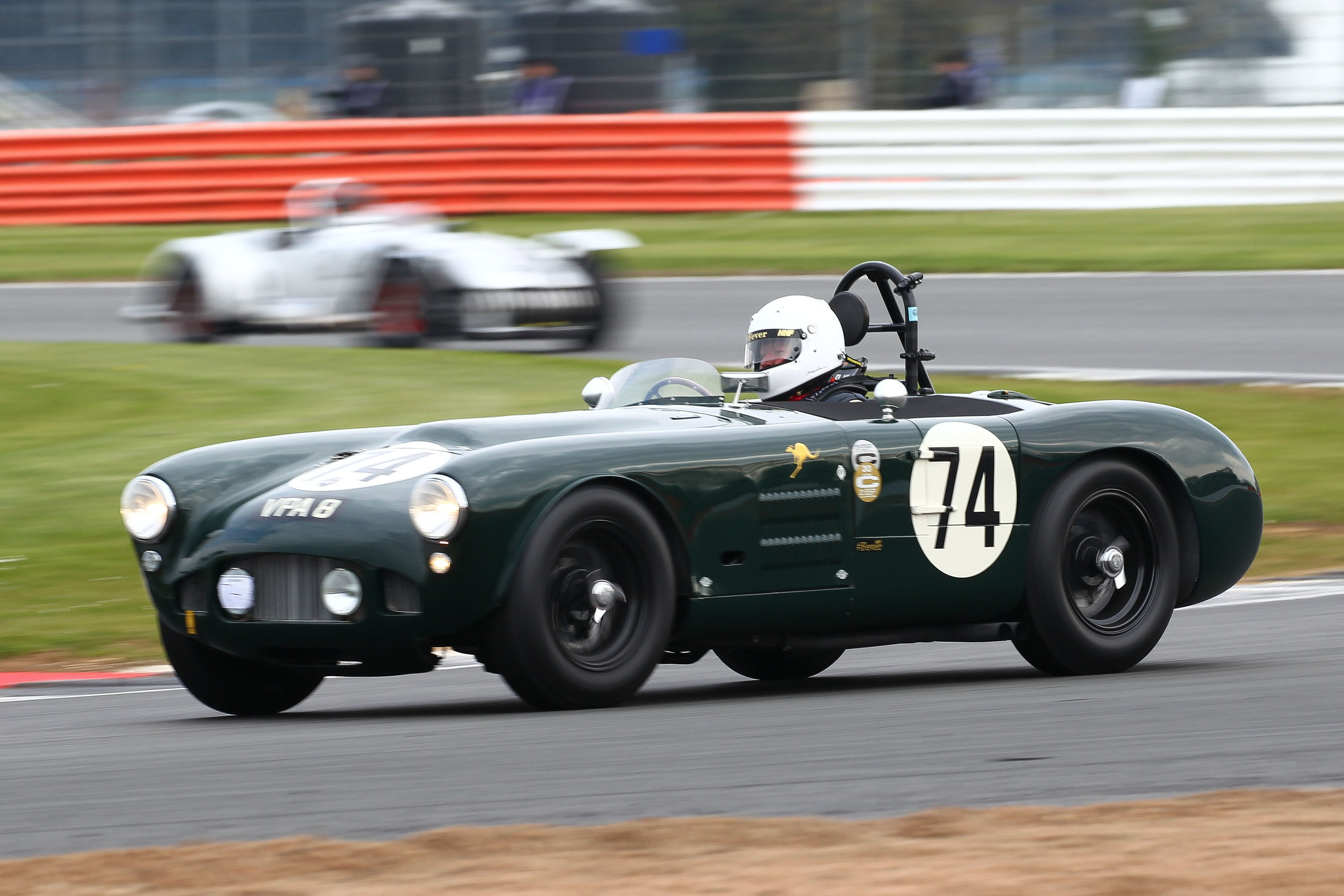 Martin Hunt, Tom Cole Trophy winner, in the HWM Jaguar Photo - Richard Styles