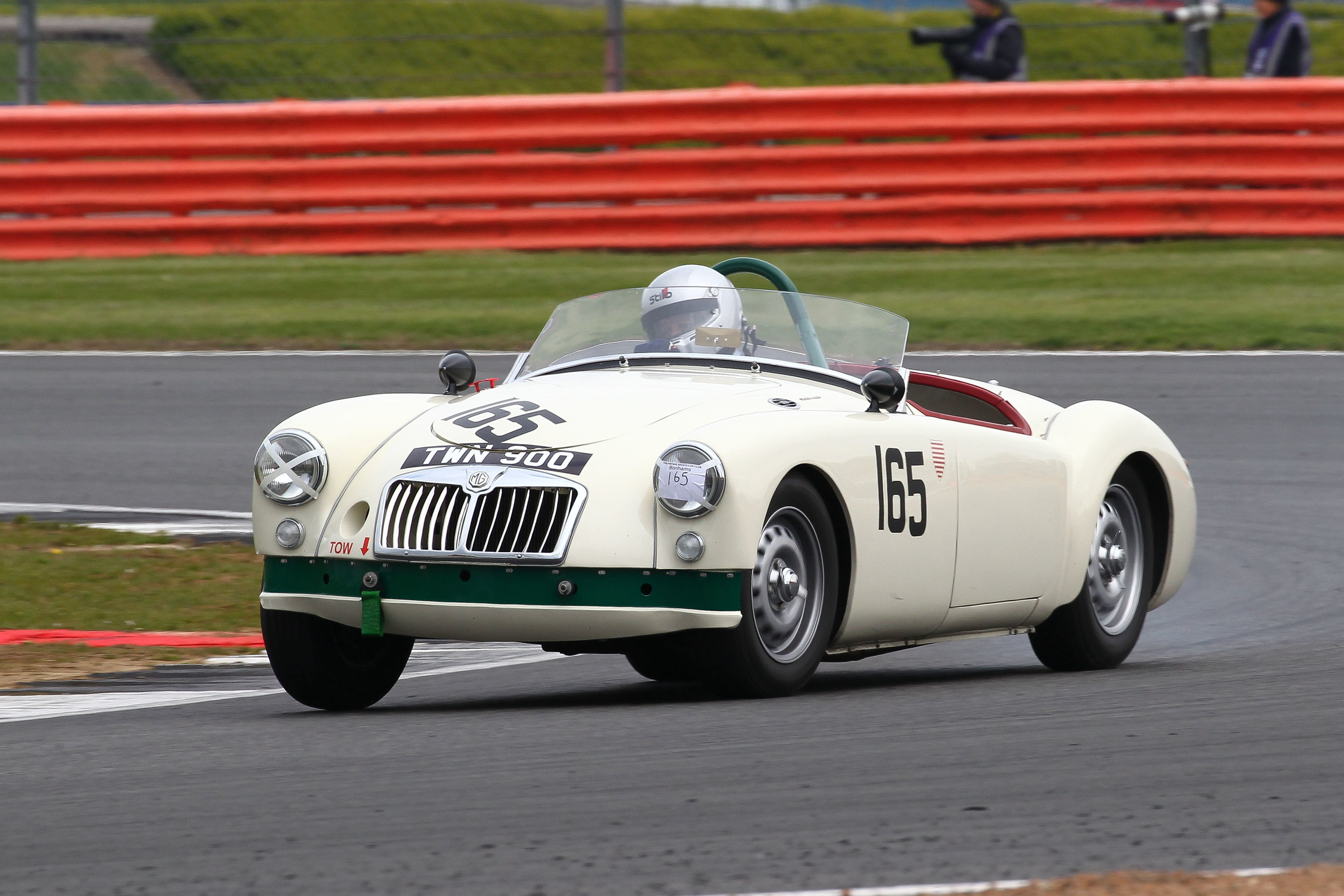 Hard charging Mark Daniel brought Neil Burnside's MGA Twin Cam up to 14th overall. Photo - Richard Styles