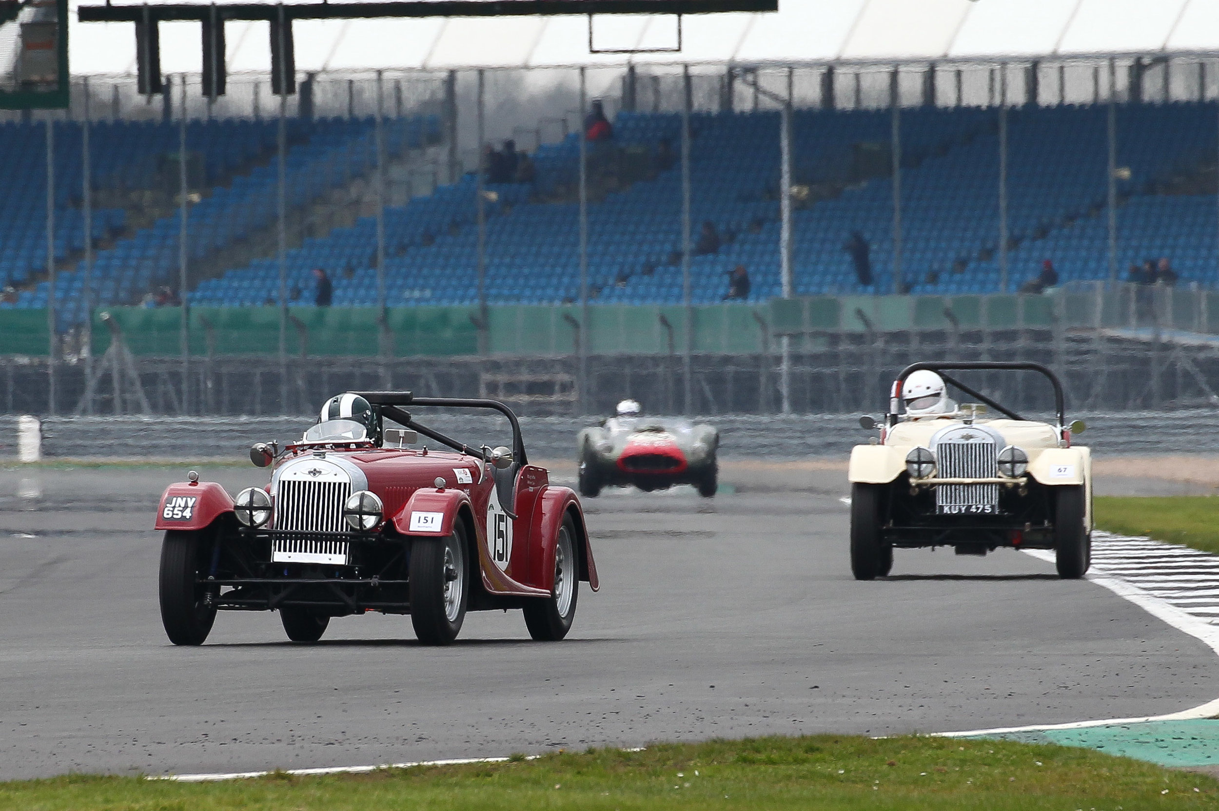 Leigh Sebba & Mark Shears had a load of fun in the early Morgan Plus 4s - Photo - Richard Styles