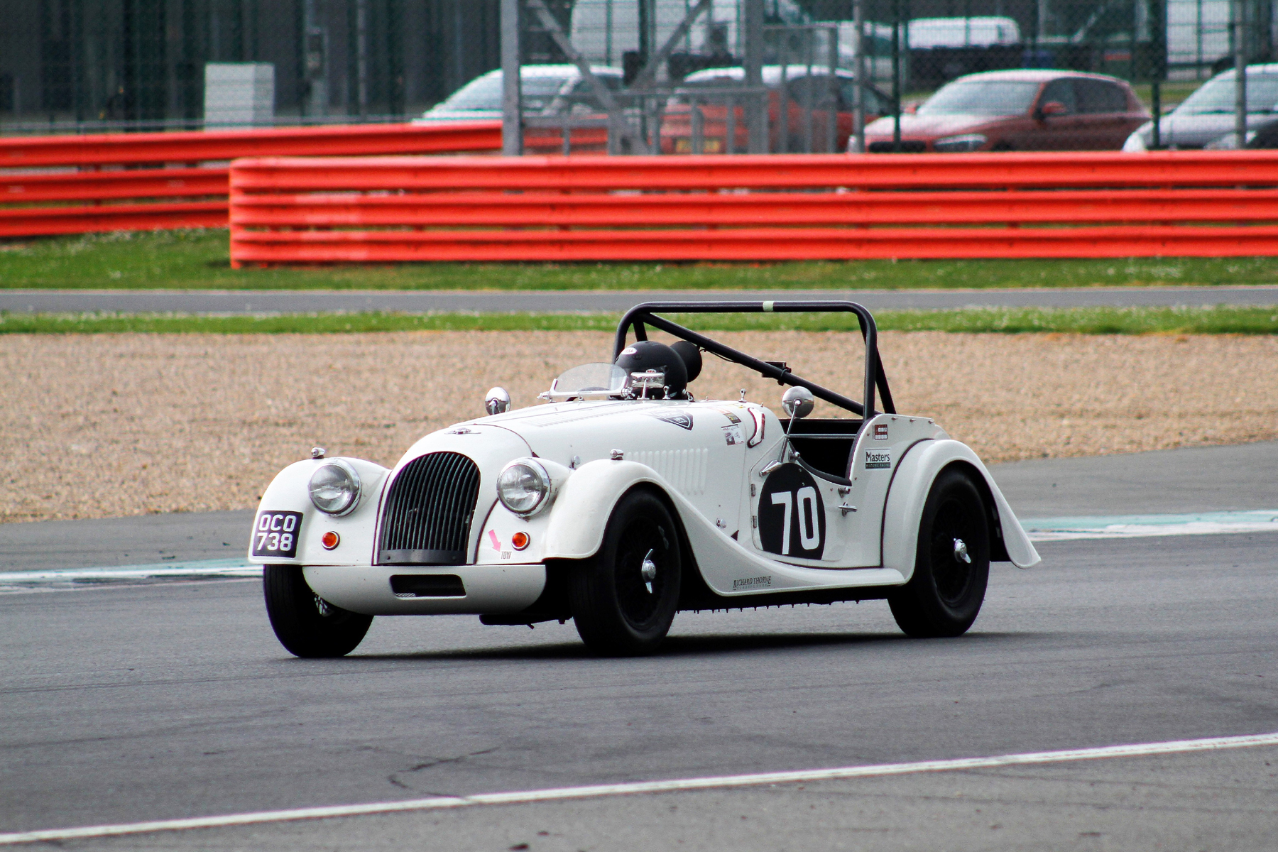 Alan House in the Morgan +4 . Photo - Bob Bull, Tripos Media