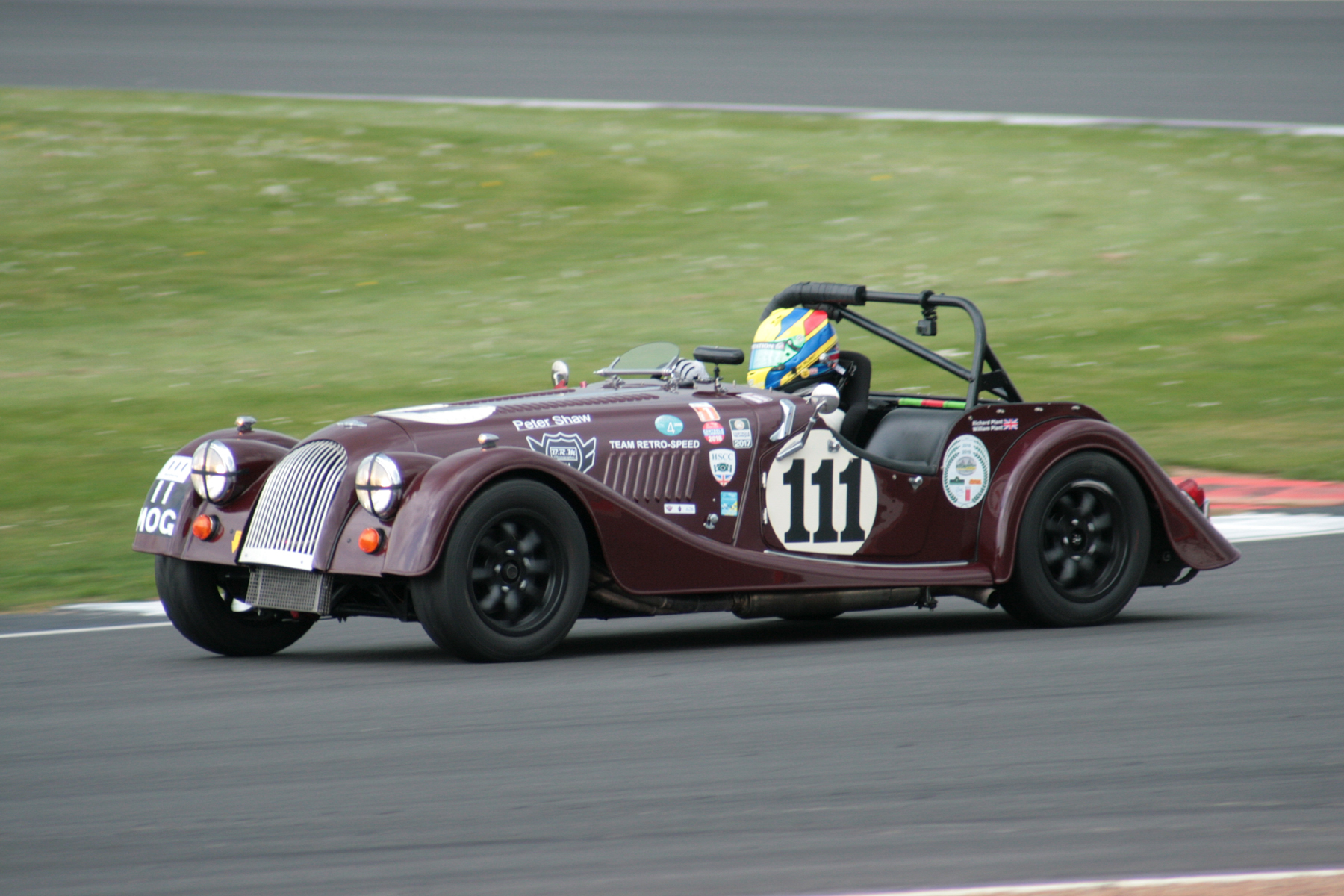Quickest car driver combination was Will Plant in the Morgan Plus 8, but the car was to finish 2nd . Photo John Turner