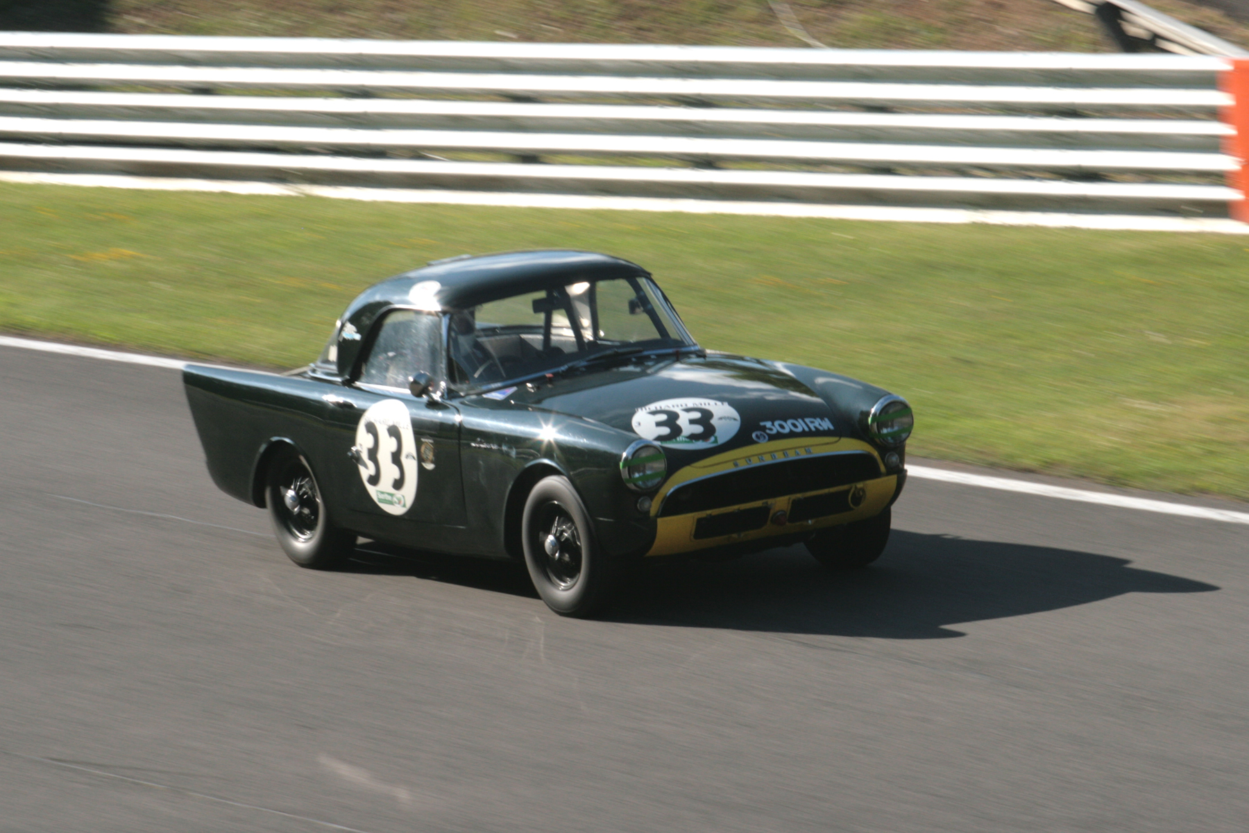 Tristan Bradfield in the Sunbeam Alpine Le Mans