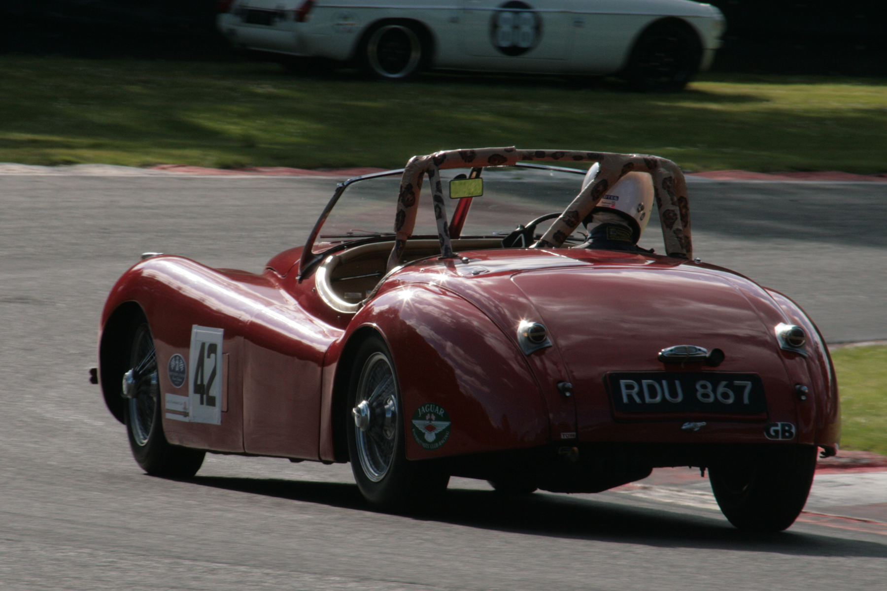 Geoff Ottley in his Jaguar XK120