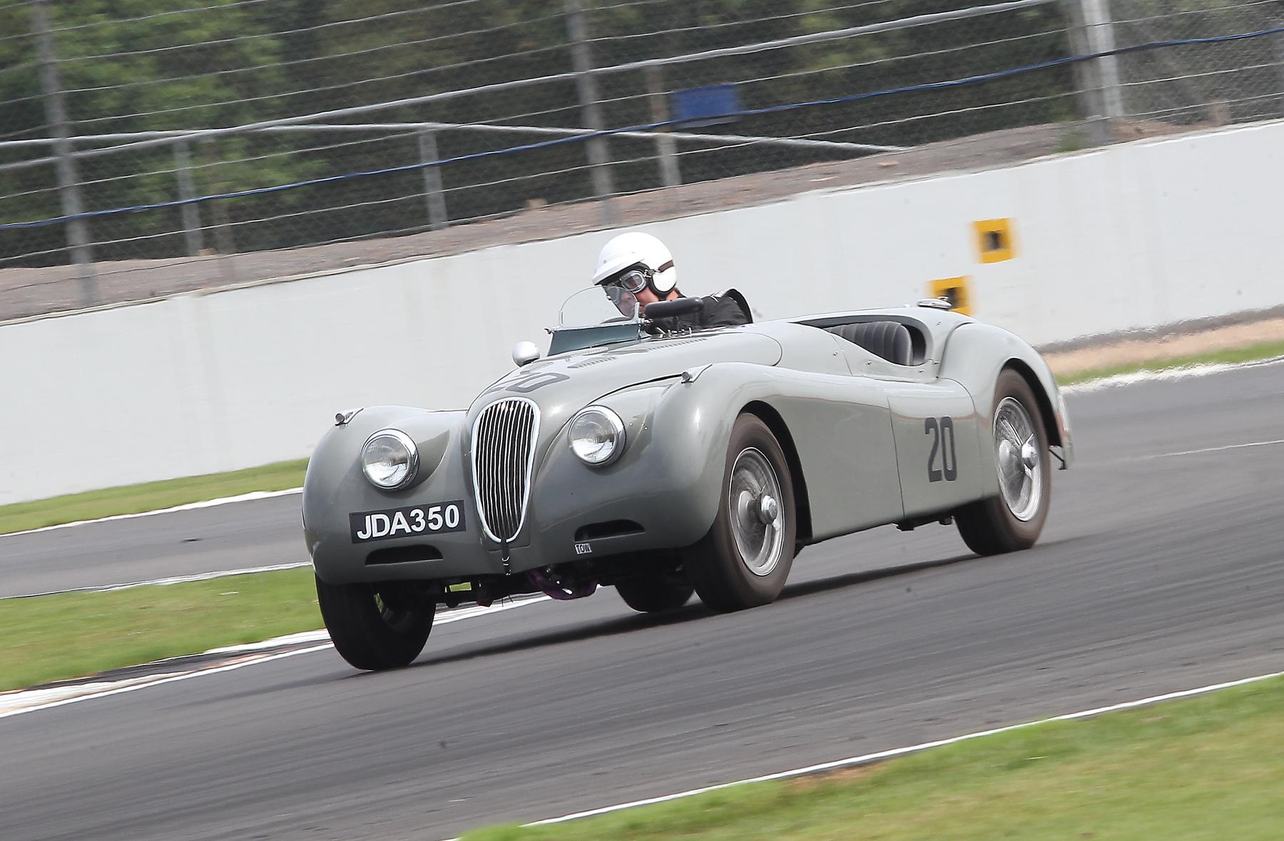 David Brazell in John Harper's Jaguar XK120  Photo - Mick Walker