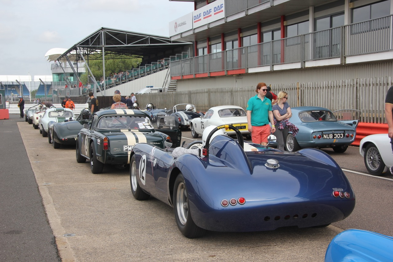 Fabulous array of cars await to go out for qualifying  Photo - Pat Arculus, Tripos Media