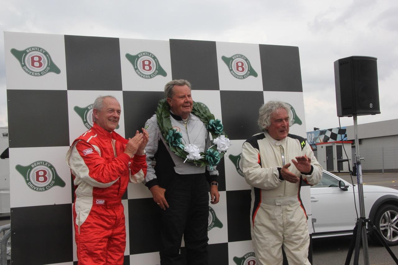 Brian Arculus and John Andon congratulate the winner Richard Tyzack  Photo - Pat Arculus, Tripos Media