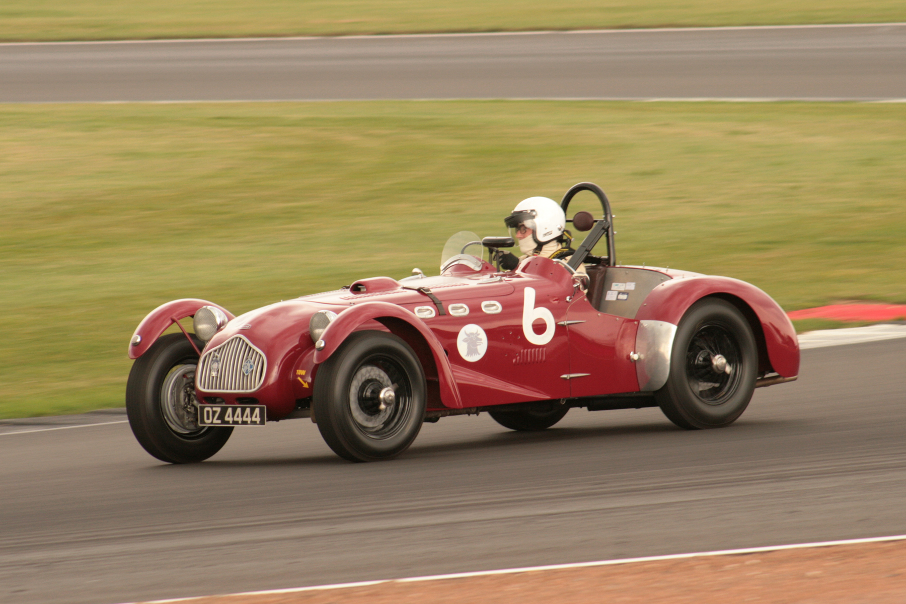 Appearing in the VSCC AllComers Sealed Handicap Race was Chris Pring's Allard J2, a perfect candidate for FISCAR. Fitted with original Ford/Mercury V8 and Ardun heads, Chris lapped in 1.21. Contact has been made!  Photo - JT