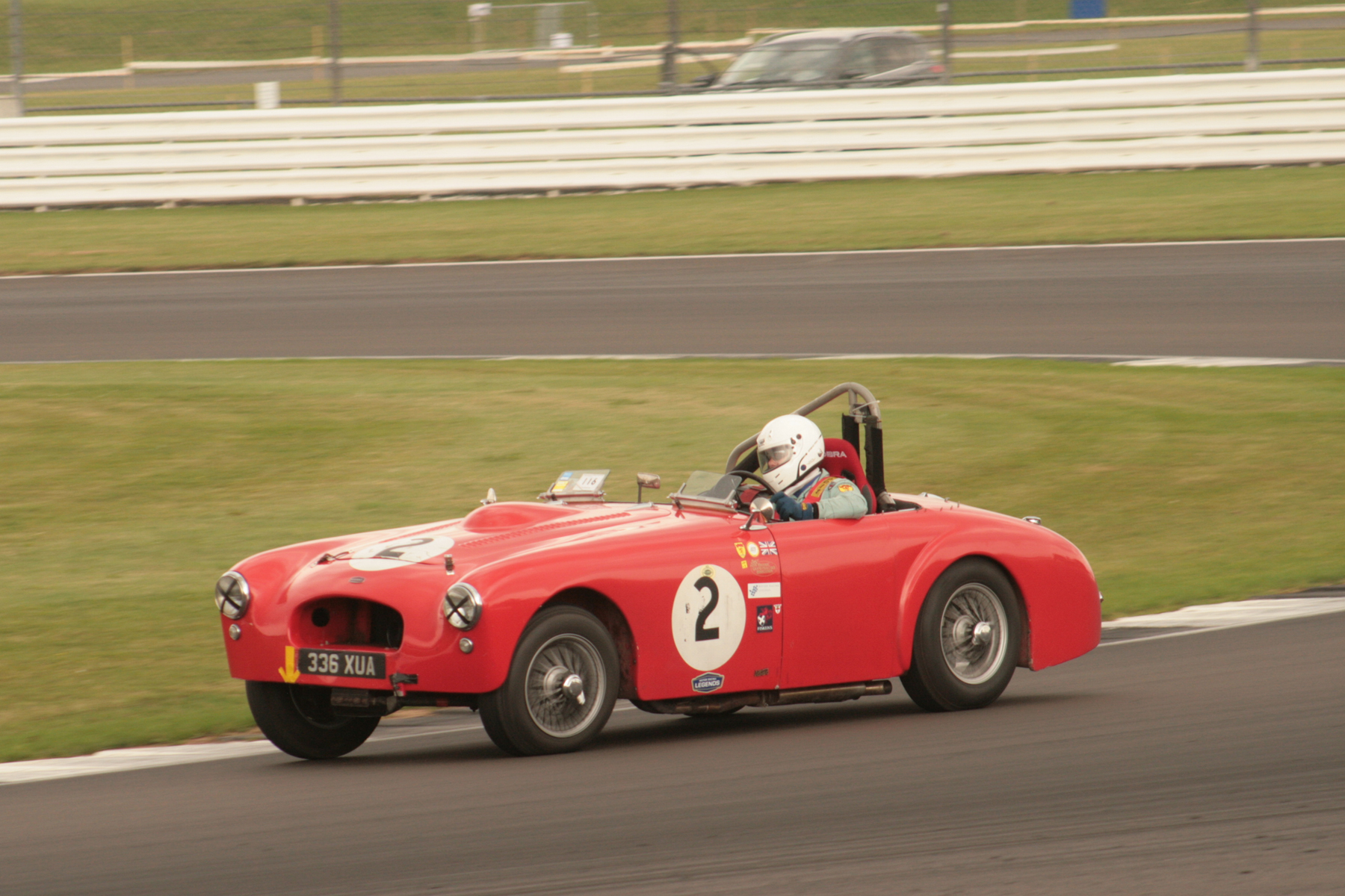 Also in the AllComers was Mark Butterworth in the K3. Some you may recall that Mark has raced with us before in this big Allard, but it is a heavy car and over our 30 minute race period tends to fry its brakes and overstress the engine which is a great shame.  Photo - JT