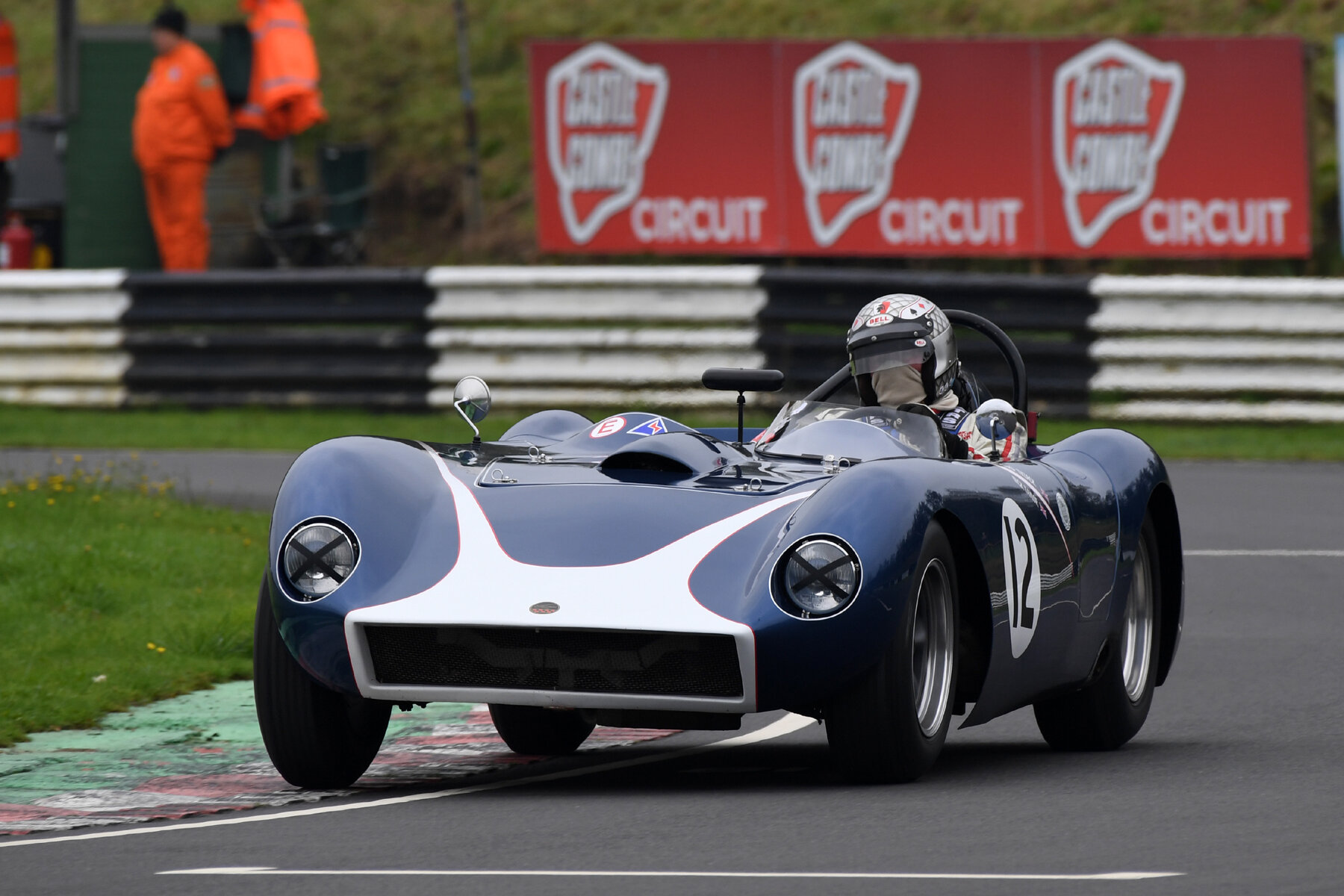 Nick Taylor in Richard Tyzack's Kellison, which failed to start, having caught fire on the grid  Photo - Jeff Bloxham