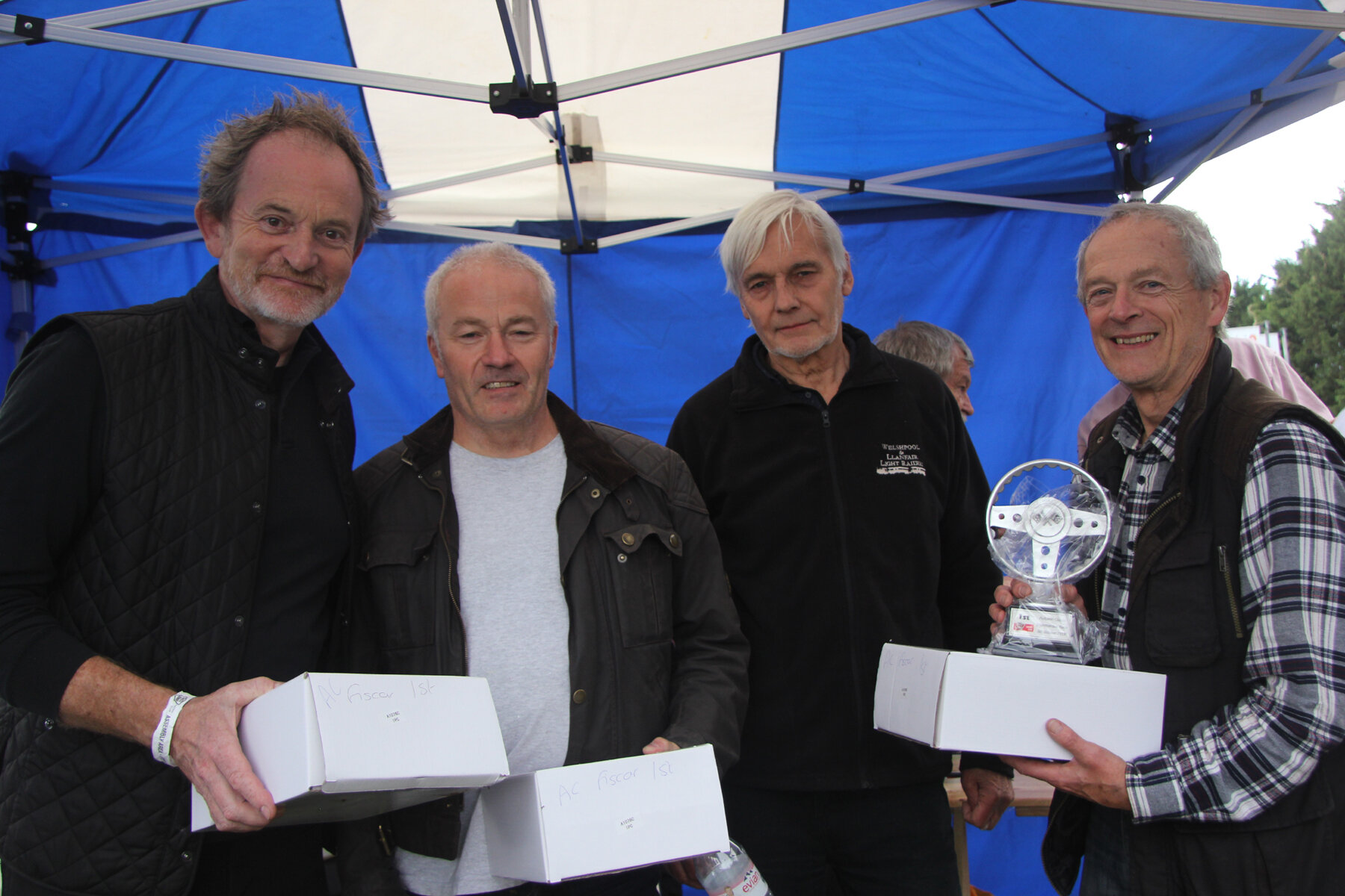 The 'on the day' team prize went to the Lotus Legends of (l to R) Robin Ellis, Barry Dye & Brian Arculus