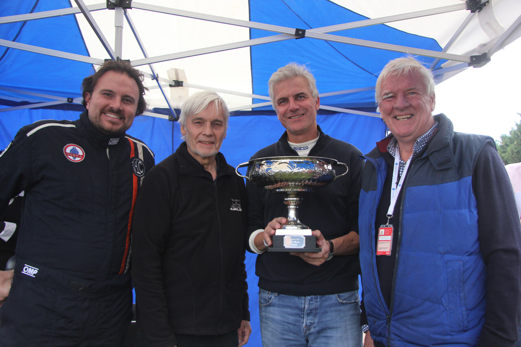 Well done to the AC Aces team who retained the Inter-Marque Team Trophy this year. L to R Ted Shepherd, Justin Becket and Tim Pearce.