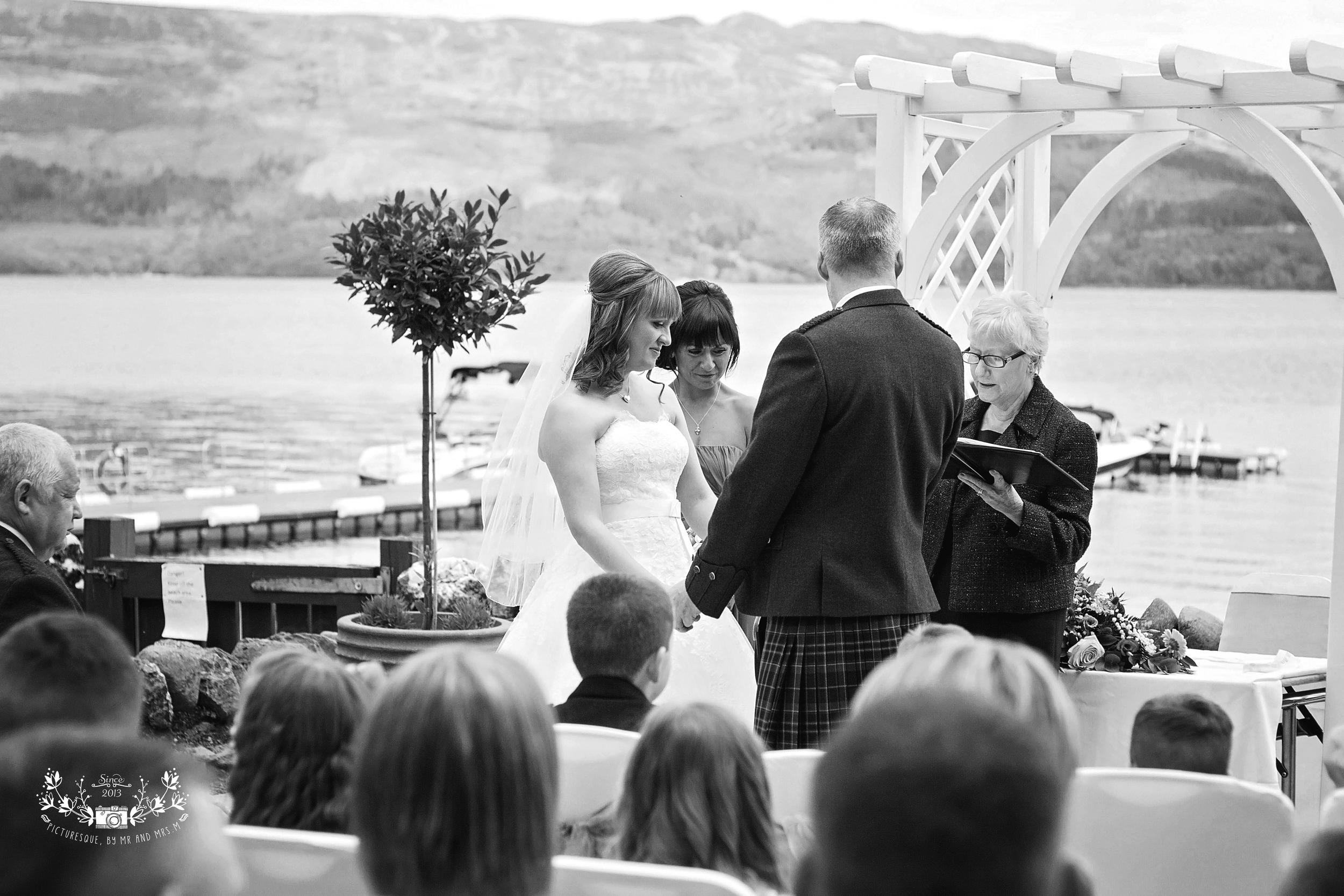 Lodge on Loch Lomond wedding