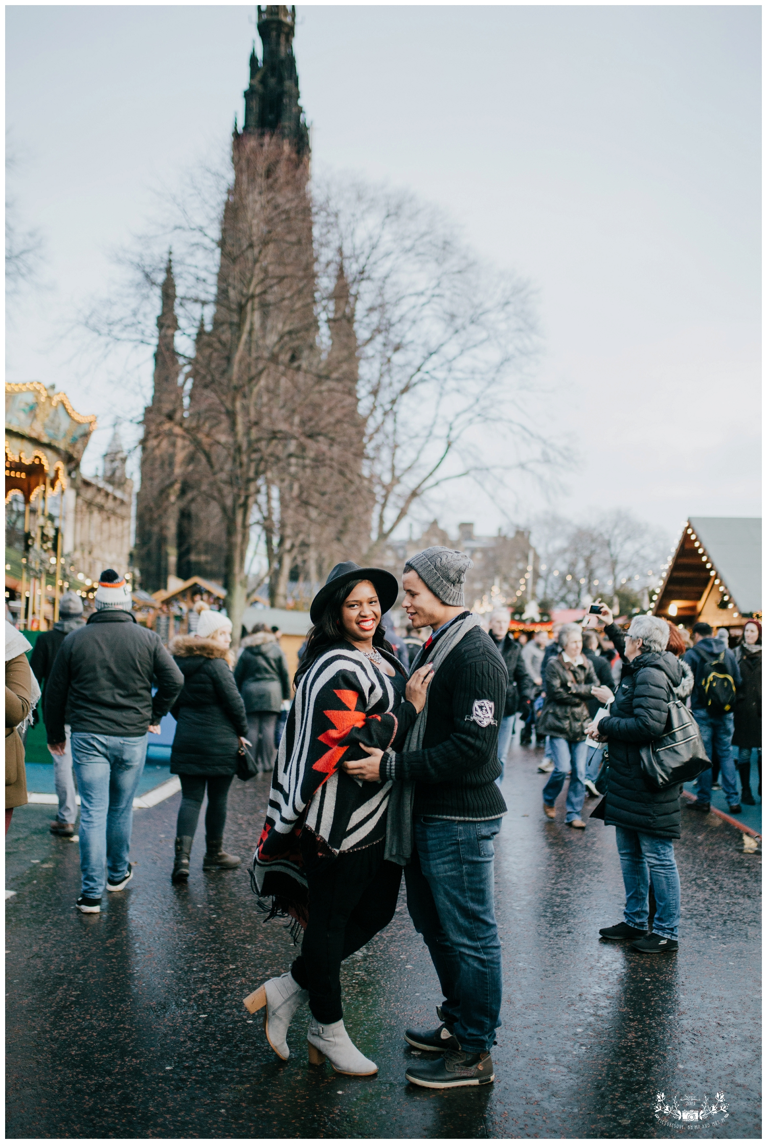 Edinburgh Christmas Market, Couples Shoot, Wedding Photography,  Scotland, Falkirk, Glasgow, Edinburgh, Picturesque by Mr and Mrs M_0003 - Copy.jpg