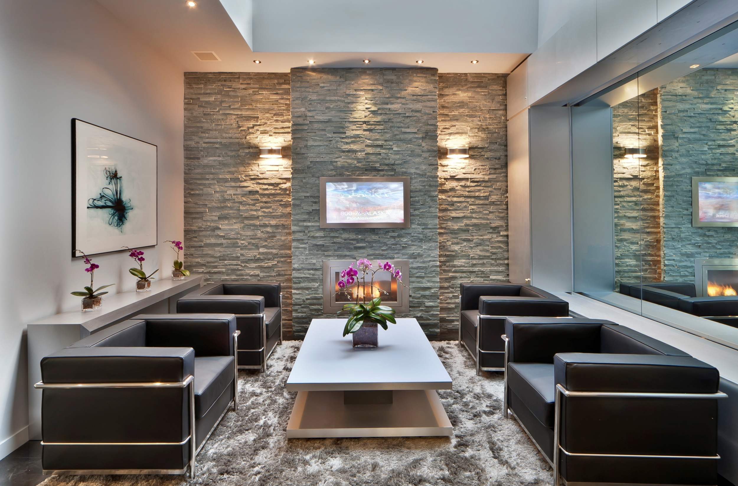 Commercial fireplace design