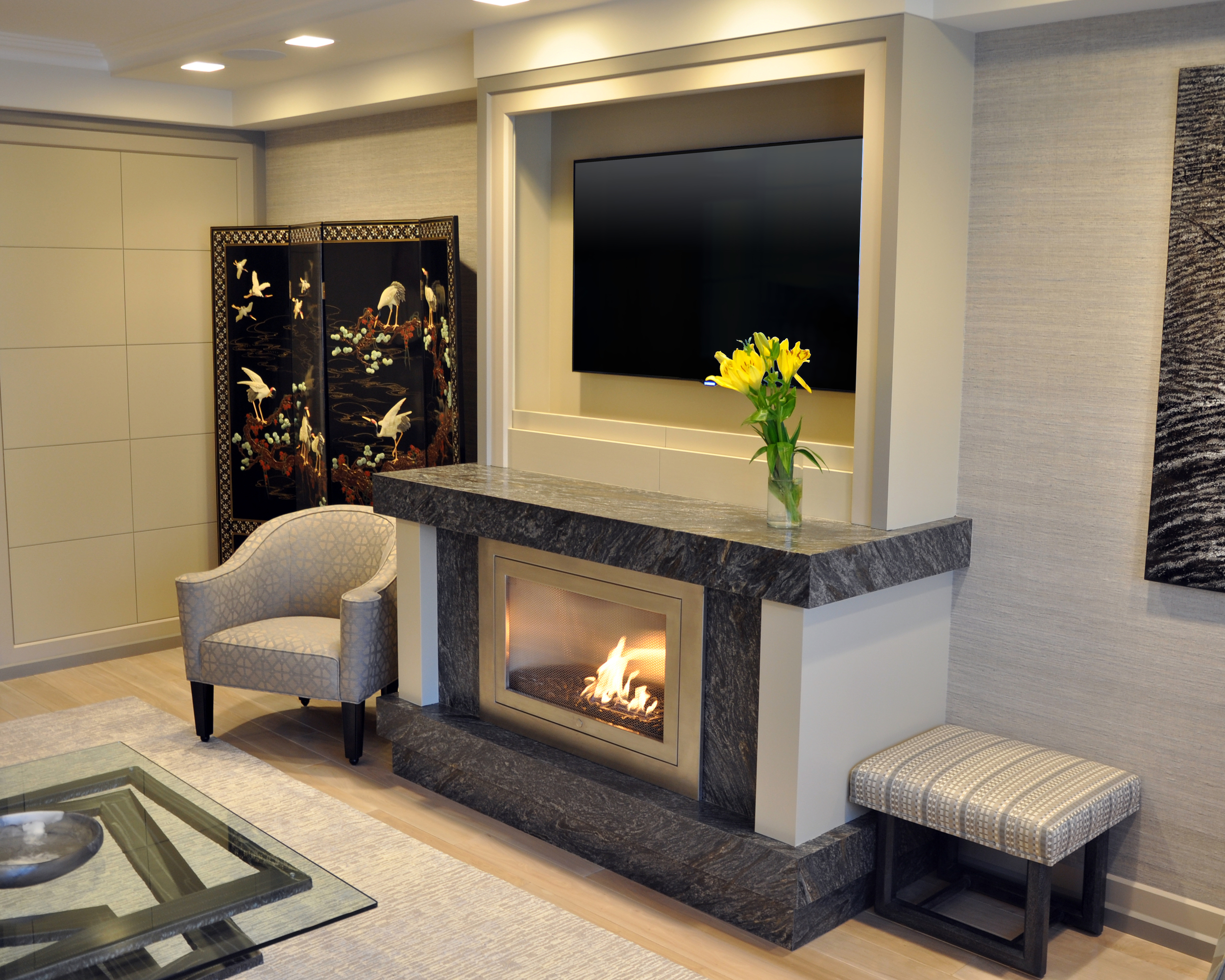 Linear Fireplace Designs Ventless Linear Fireplaces By