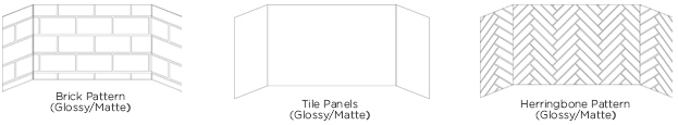*Tile available in glossy or matte, blacktile. COM options available.