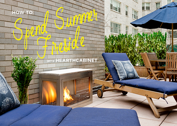 outdoor ventless fireplaces - spend summer fireside