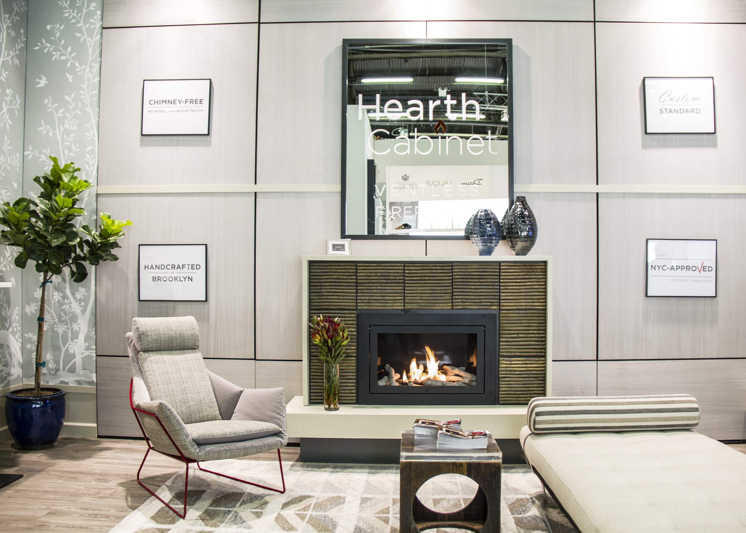 Arch Digest Design Show 2017, HearthCabinet® Luxury Ventless Fireplaces Booth 140