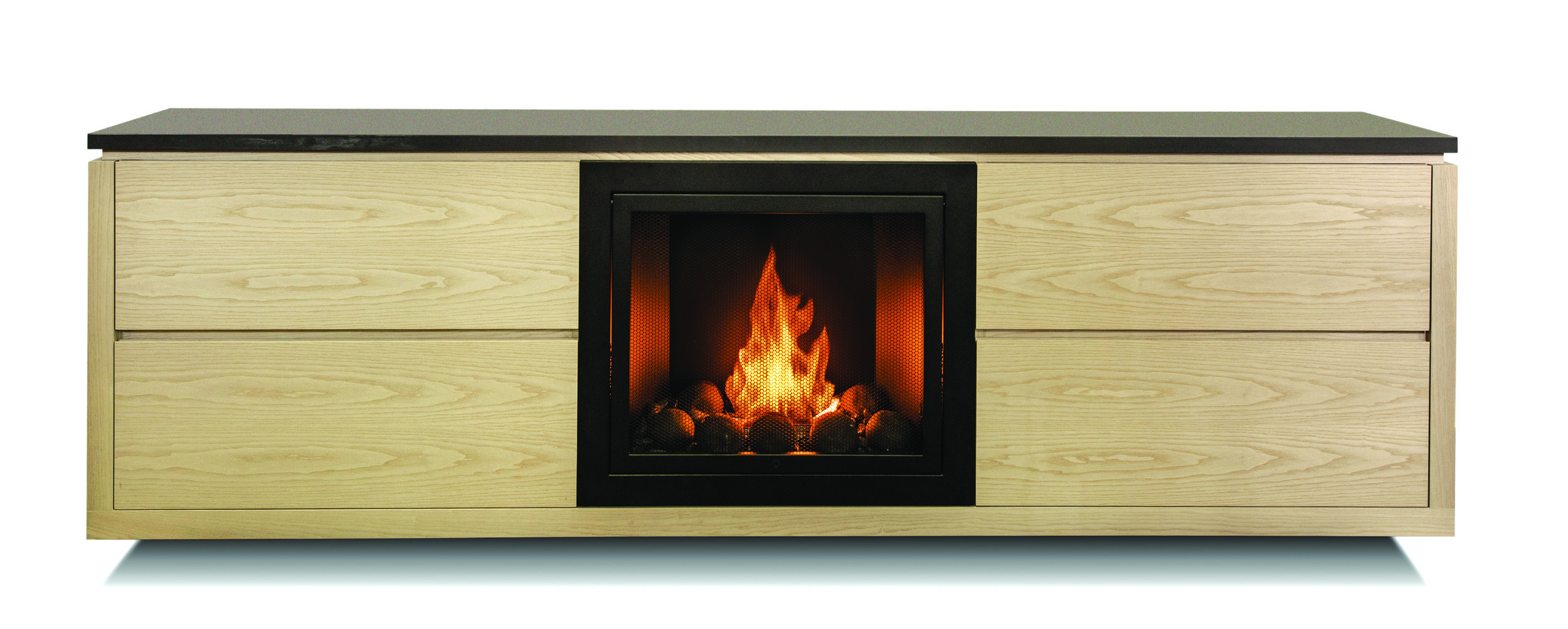 Luca Fireplace by HearthCabinet® + Cliff Young Ltd.