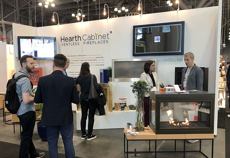 HearthCabinet® Ventless Fireplaces' ICFF 2019 Booth