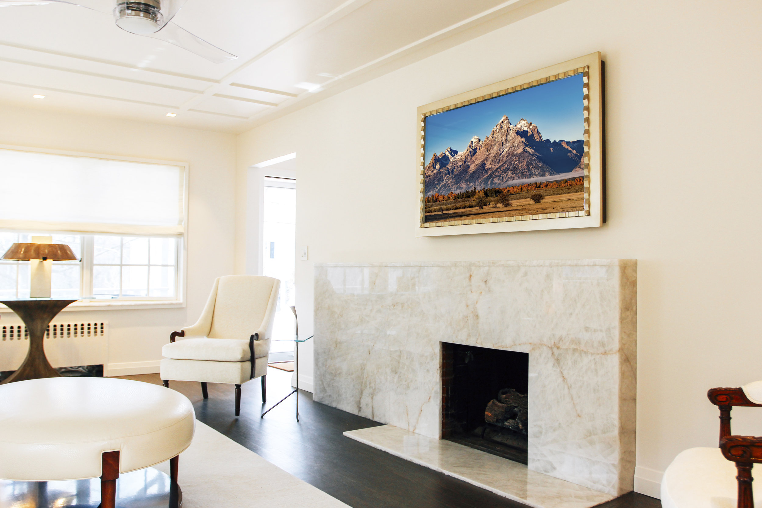 REFLECTEL CLIENT INSTALLATION – FIREPLACE BY OTHERS