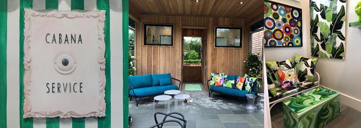 Holiday Hampton House pool cabana designed by Allison Eden