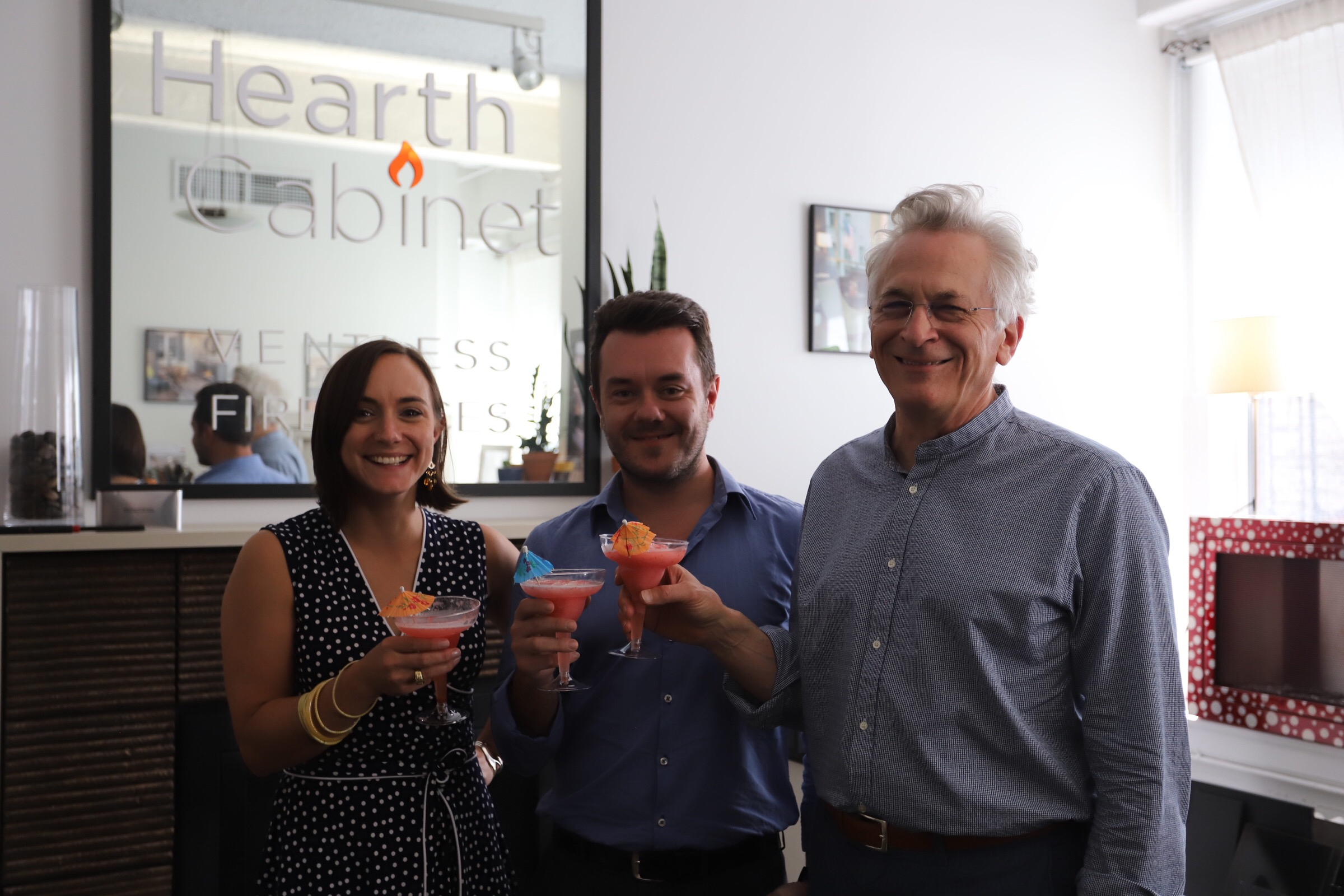 Pictured: Arthur Lasky, HearthCabinet® founder & NCARB & HearthCabinet® team members Sara Check & Antonio Curto