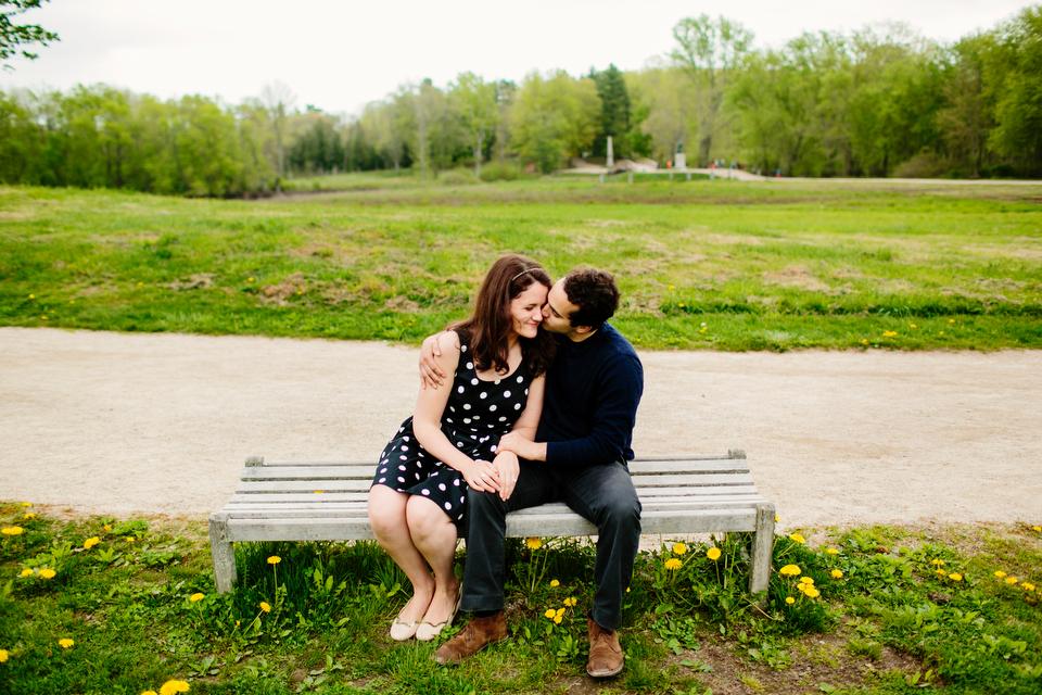 Engagement Love walking around Concord