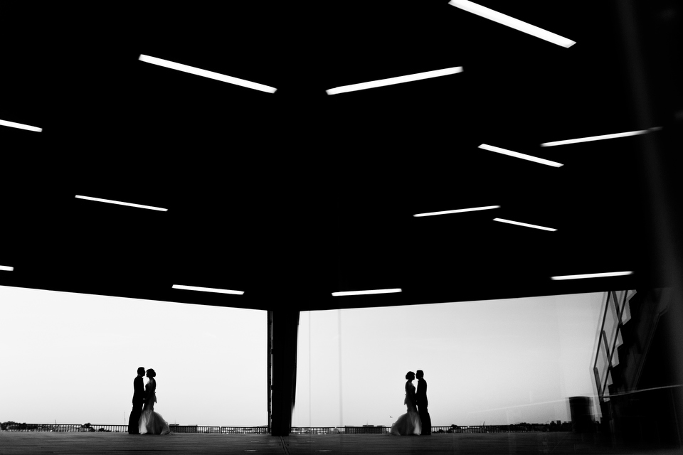 Wedding photos taken at the ICA, Institute of Contemporary Arts