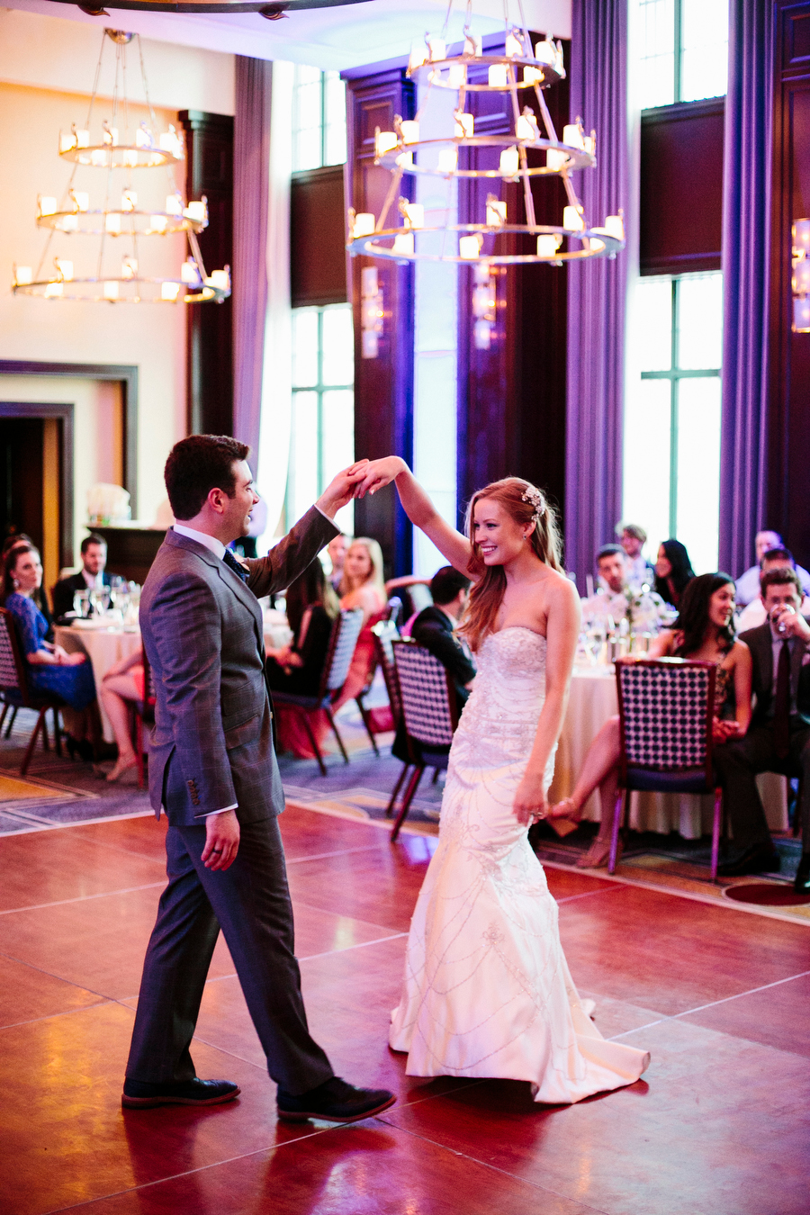 bride and groom first dance at liberty