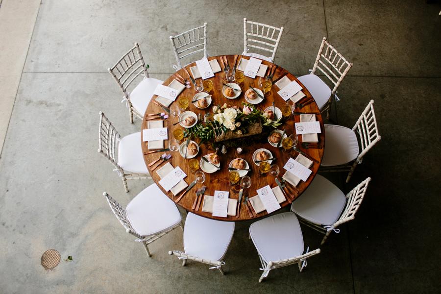 rustic meets modern table