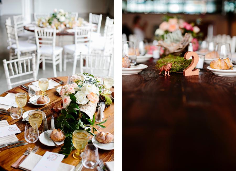 whimsical wedding decor for table