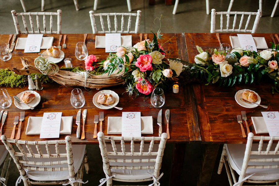 driftwood and moss table design