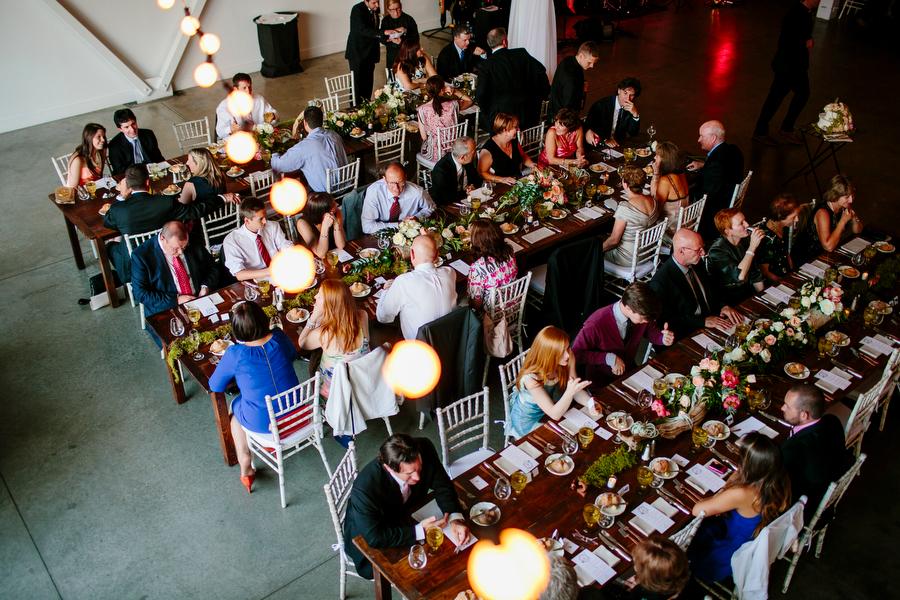 reception table arrangement